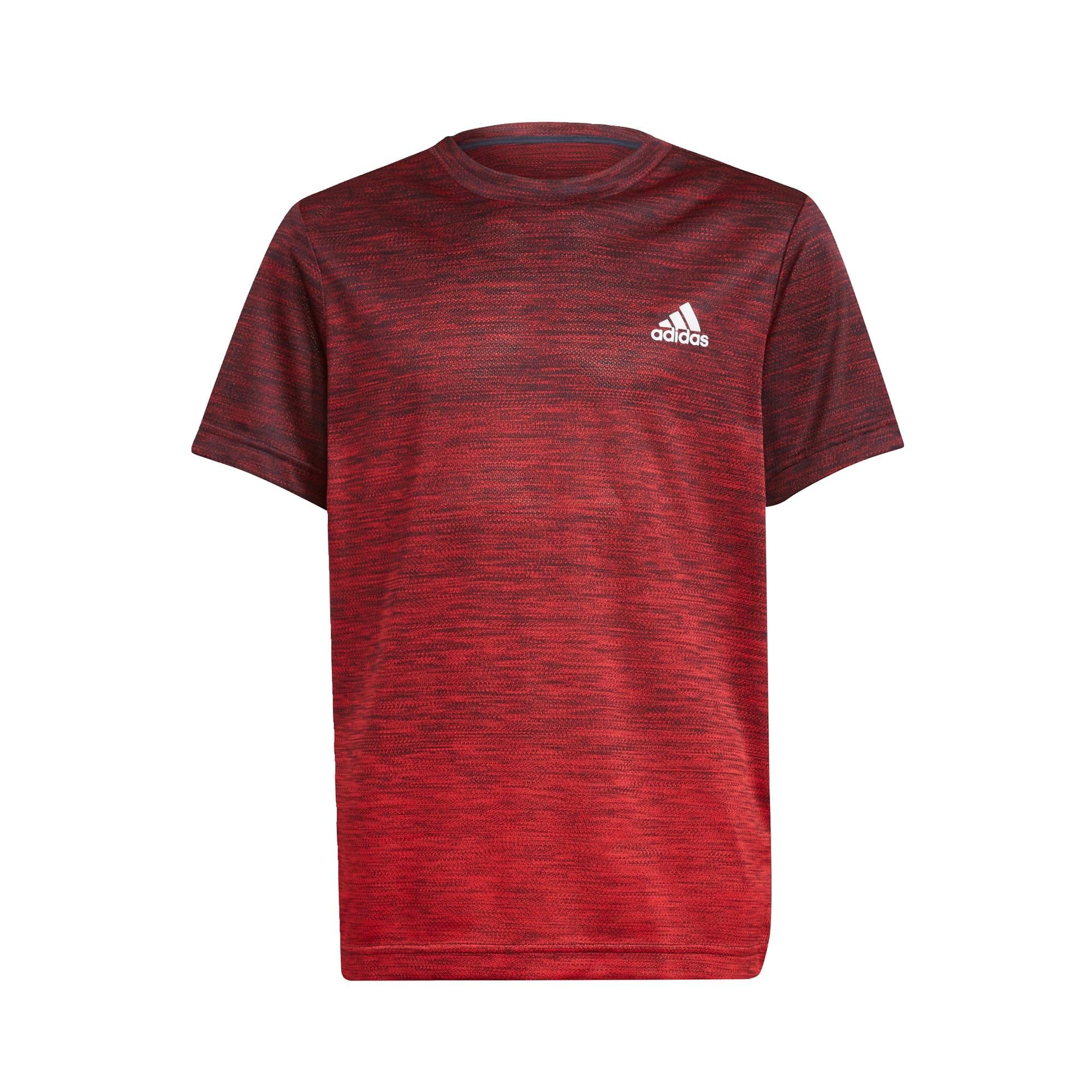 ADIDAS PERFORMANCE Sportiniai marškinėliai kraujo spalva / tamsiai raudona / balta