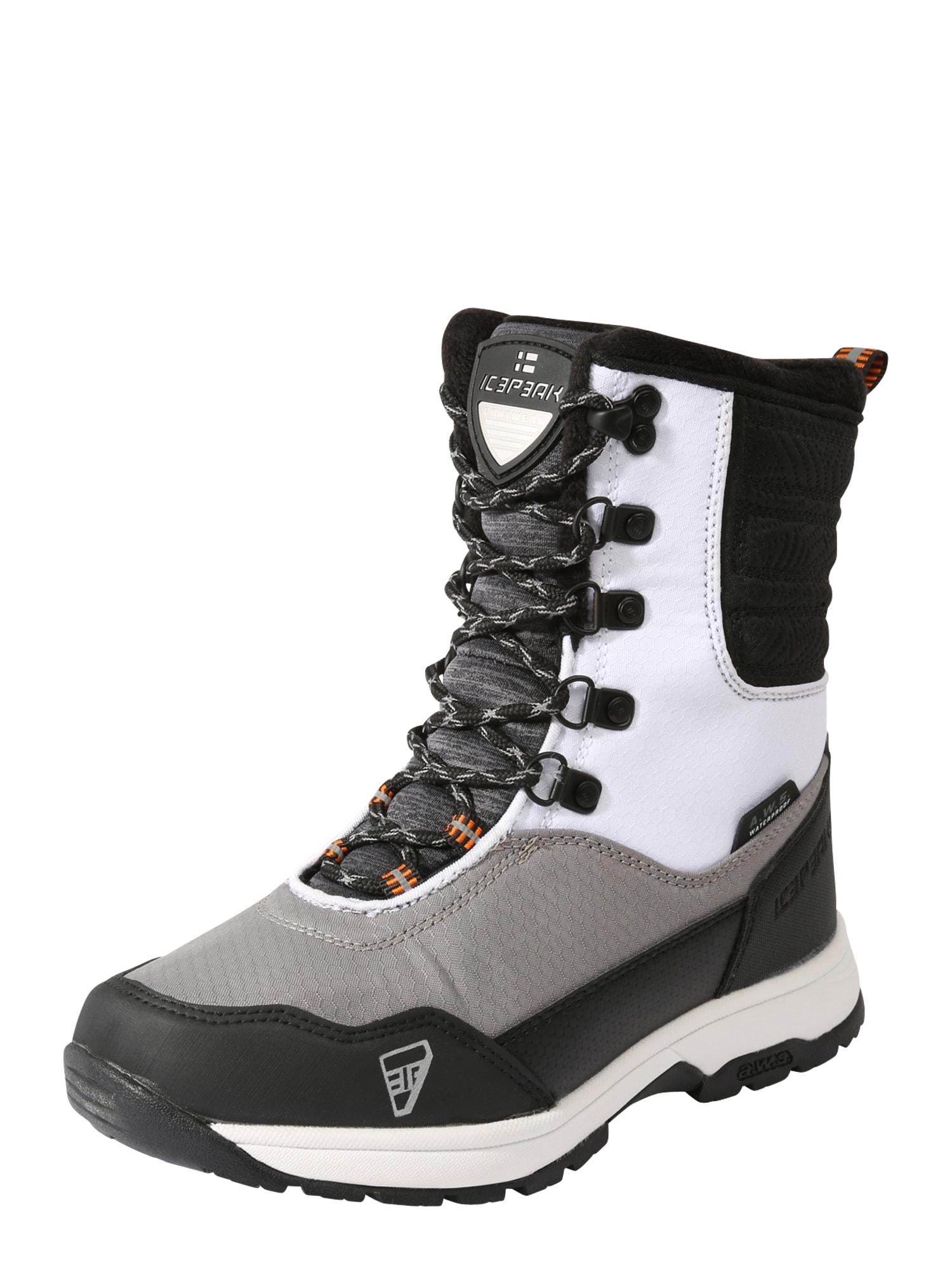 ICEPEAK Sportiniai batai 'ANTREA' balta / rusvai pilka / juoda