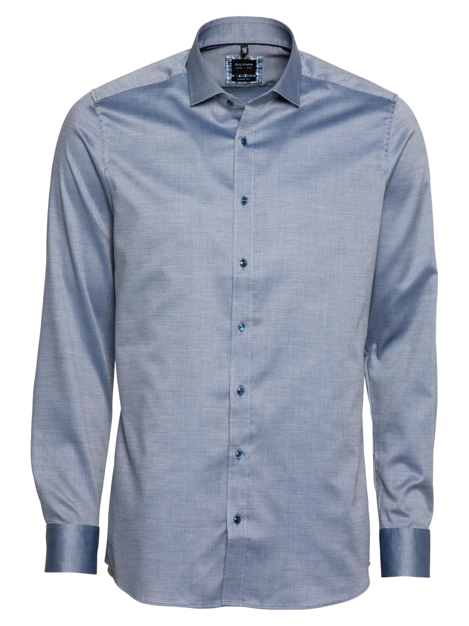 OLYMP Marškiniai tamsiai mėlyna jūros spalva