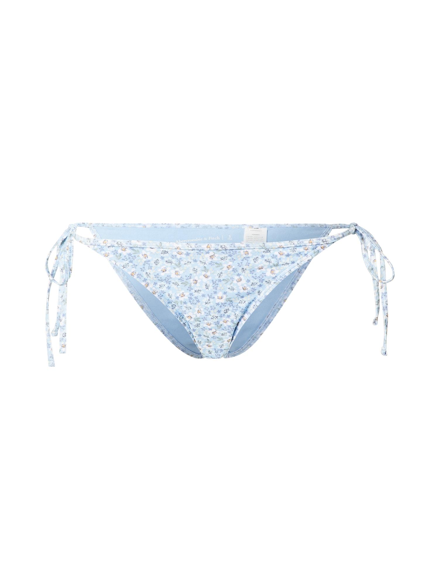 "Abercrombie & Fitch Bikinio kelnaitės šviesiai mėlyna / balta / šviesiai geltona / sodri mėlyna (""karališka"")"