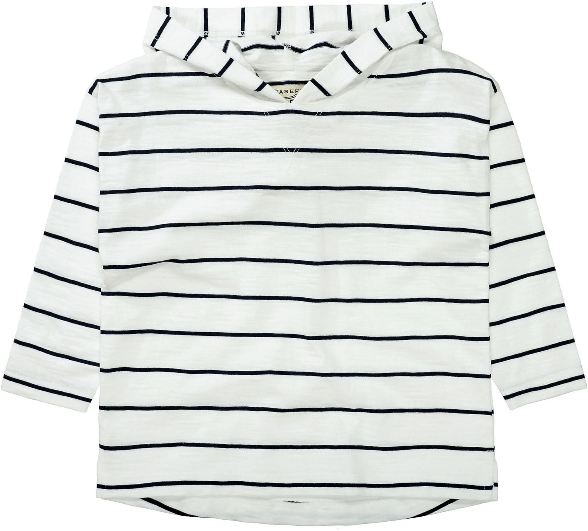 BASEFIELD Marškinėliai balta / tamsiai mėlyna jūros spalva