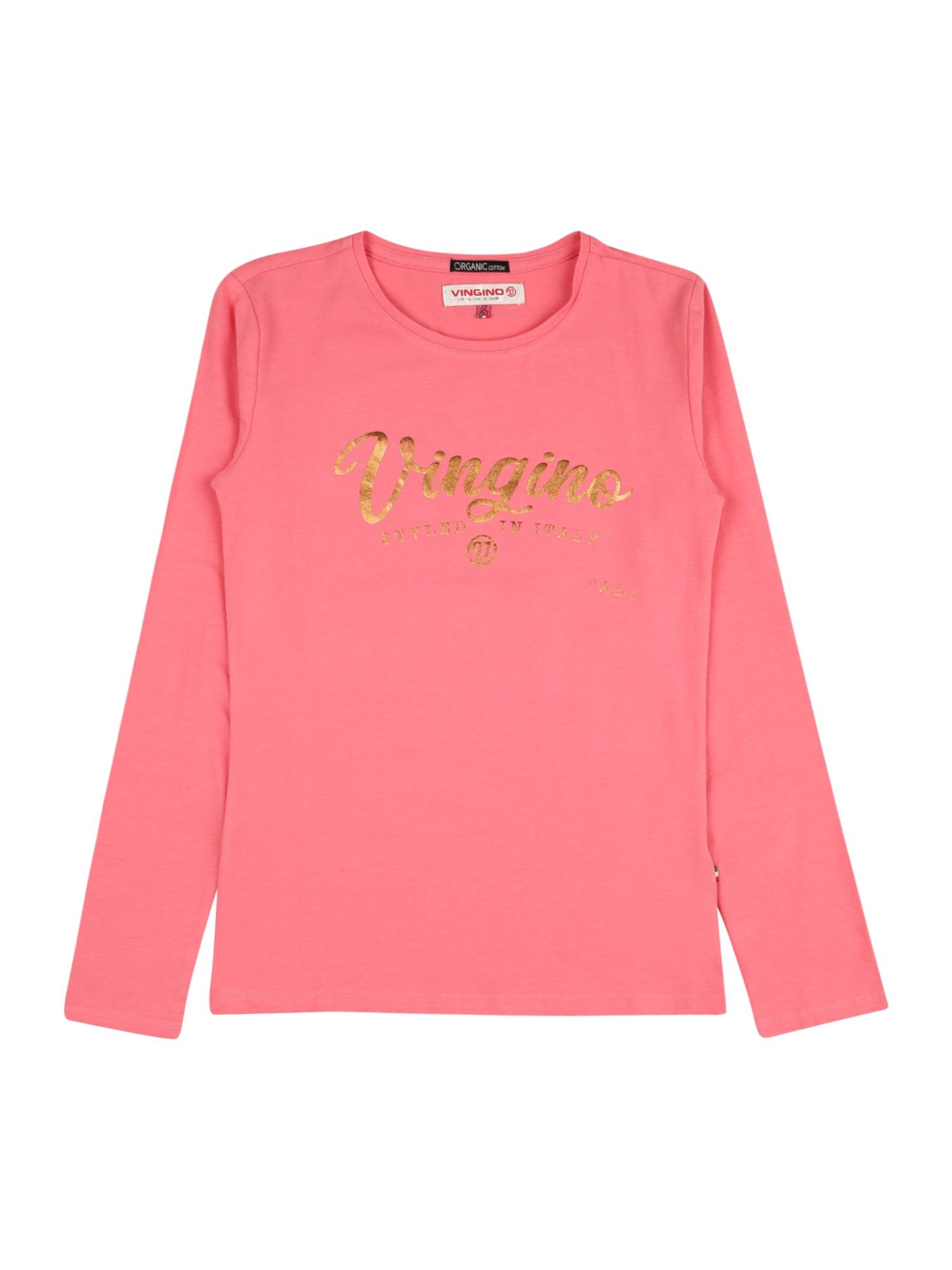 VINGINO Marškinėliai auksas / rožinė