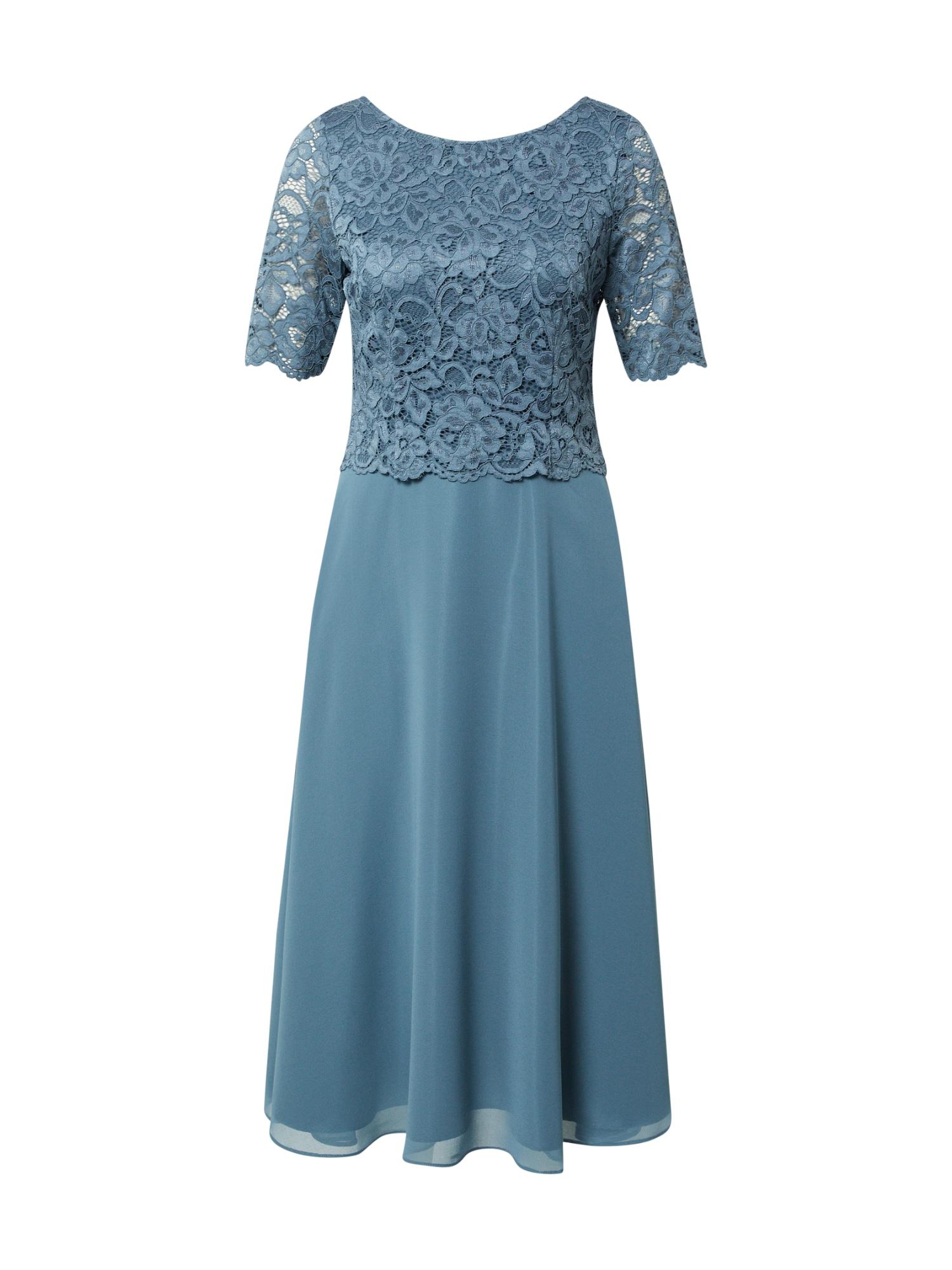 Vera Mont Kokteilinė suknelė mėlyna dūmų spalva