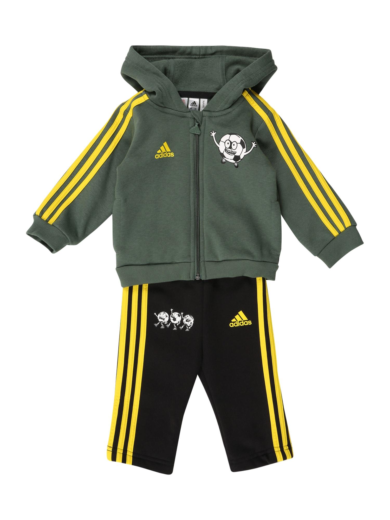 ADIDAS PERFORMANCE Sportinis kostiumas geltona / alyvuogių spalva / juoda / balta