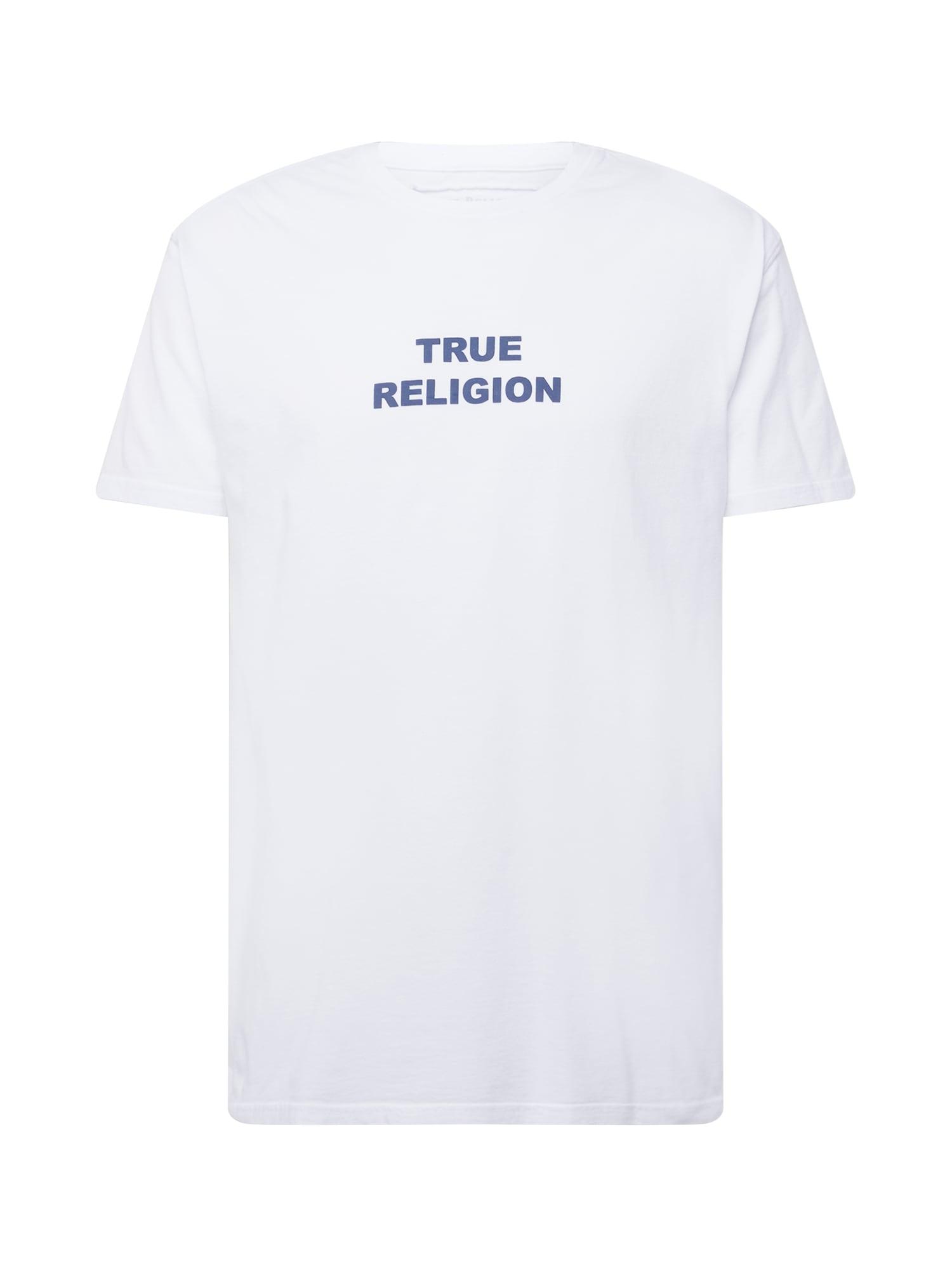 True Religion Marškinėliai balta / mėlyna