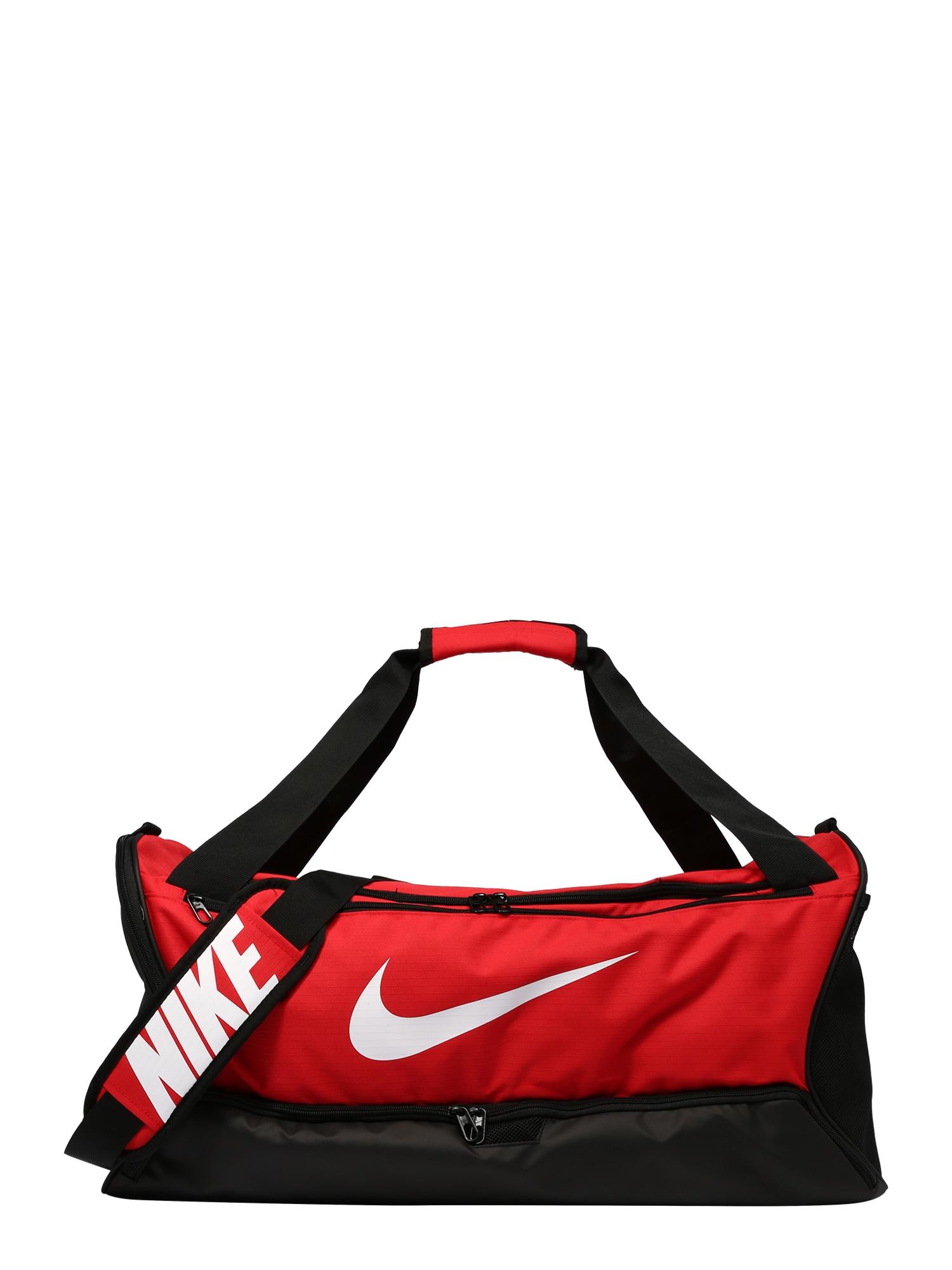NIKE Sportinis krepšys raudona / juoda / balta