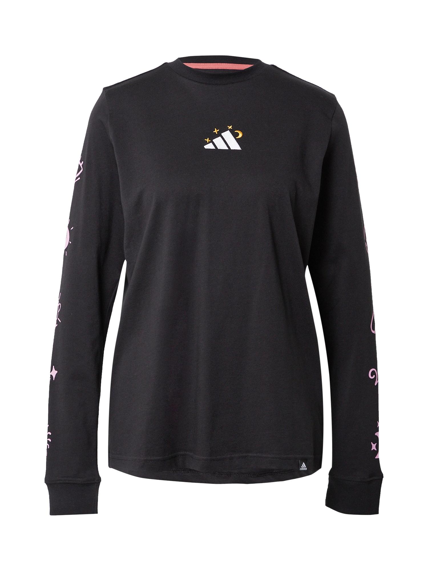 ADIDAS PERFORMANCE Marškinėliai juoda / balta / rožių spalva / raudona