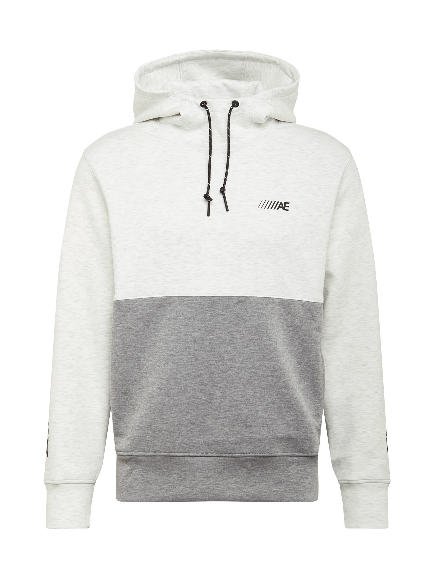 American Eagle Mikina  bílá / šedý melír