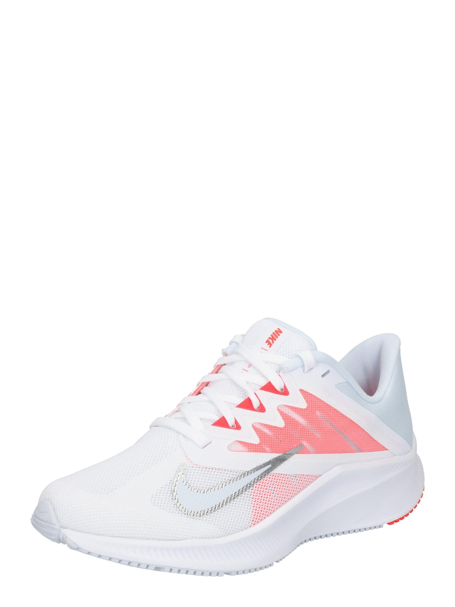 NIKE Bėgimo batai balta / rožinė / sidabrinė / opalo