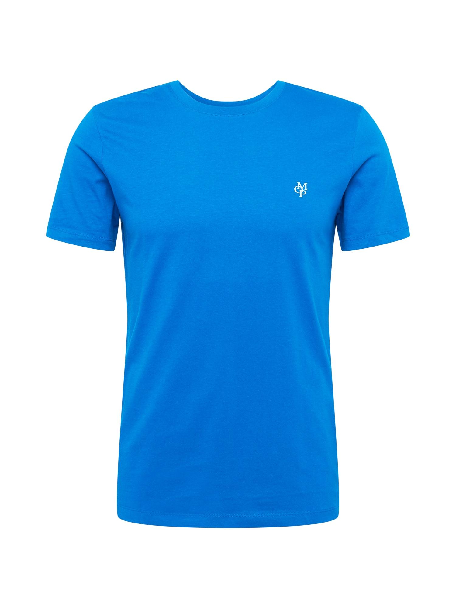 Marc O'Polo Tričko  aqua modrá / bílá