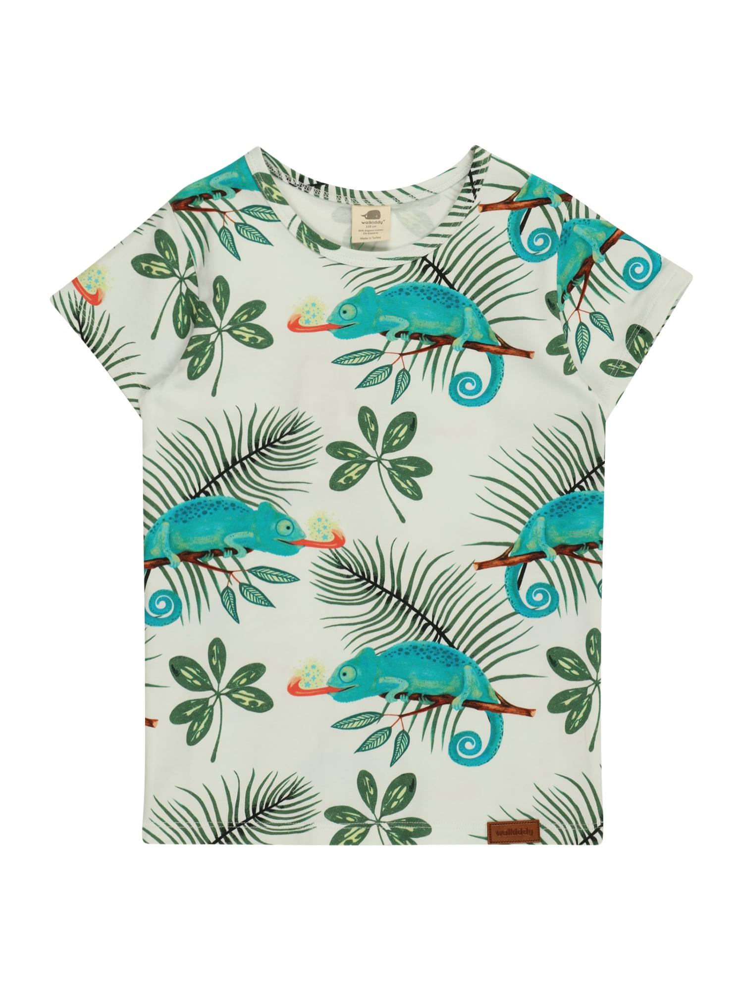Walkiddy Marškinėliai balta / nefrito spalva / žalia / melionų spalva / karamelės