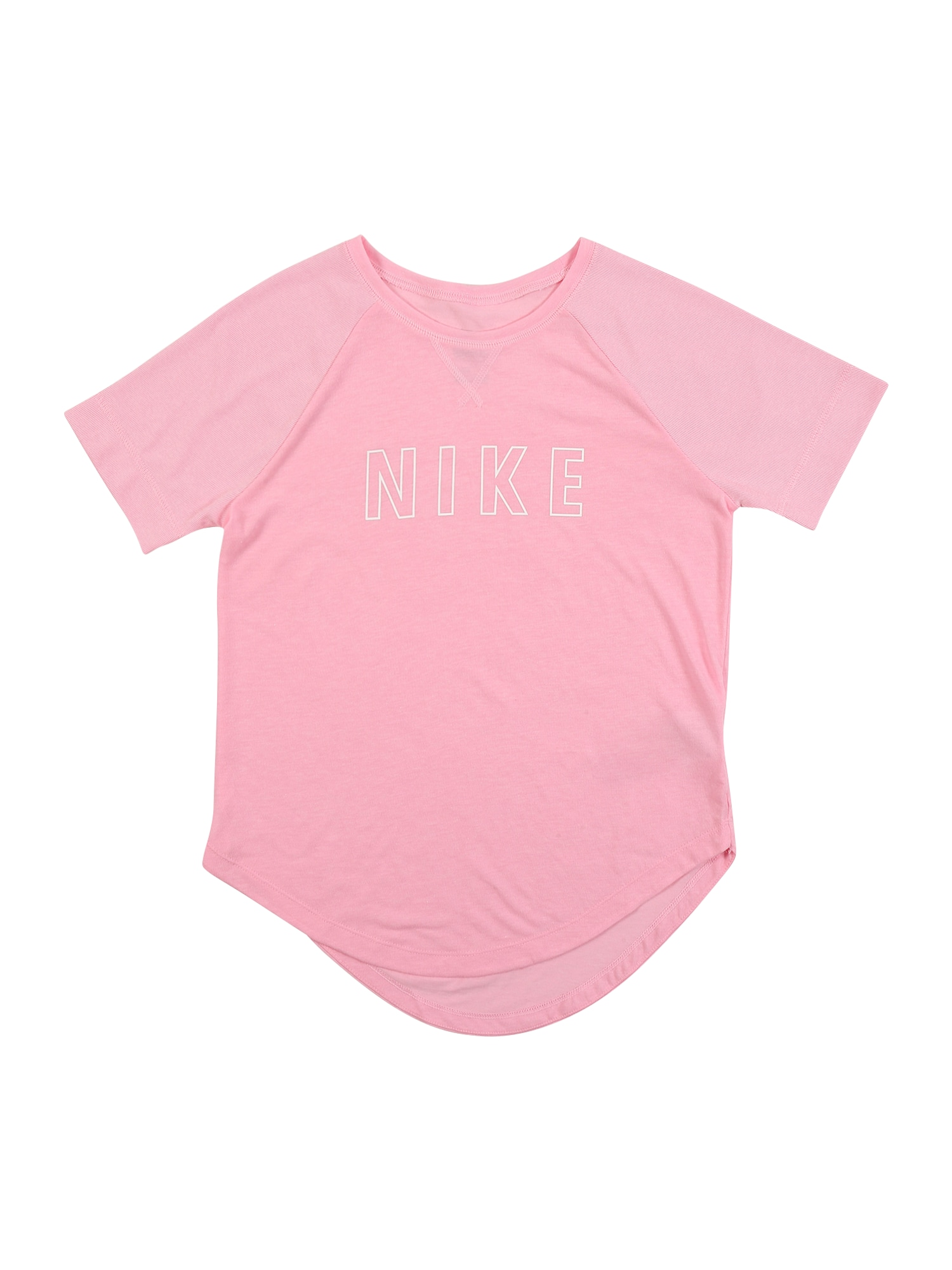 NIKE Funkční tričko 'Trophy'  bílá / světle růžová