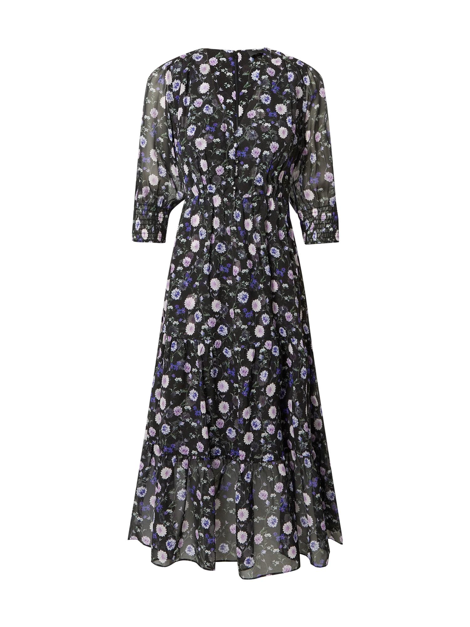 The Kooples Suknelė juoda / šviesiai violetinė / purpurinė / įdegio spalva