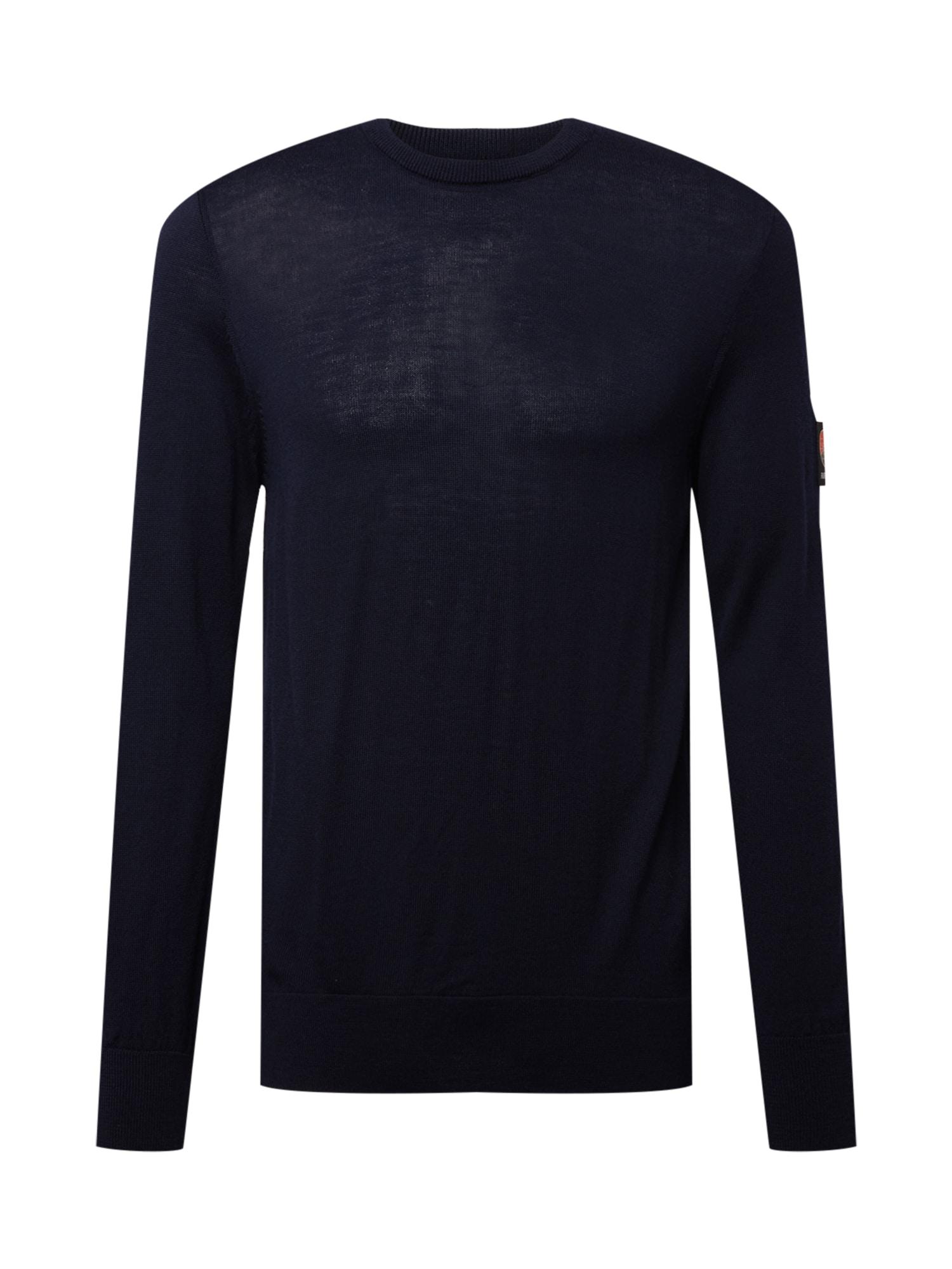 RÆBURN Megztinis tamsiai mėlyna / juoda / oranžinė / smėlio spalva