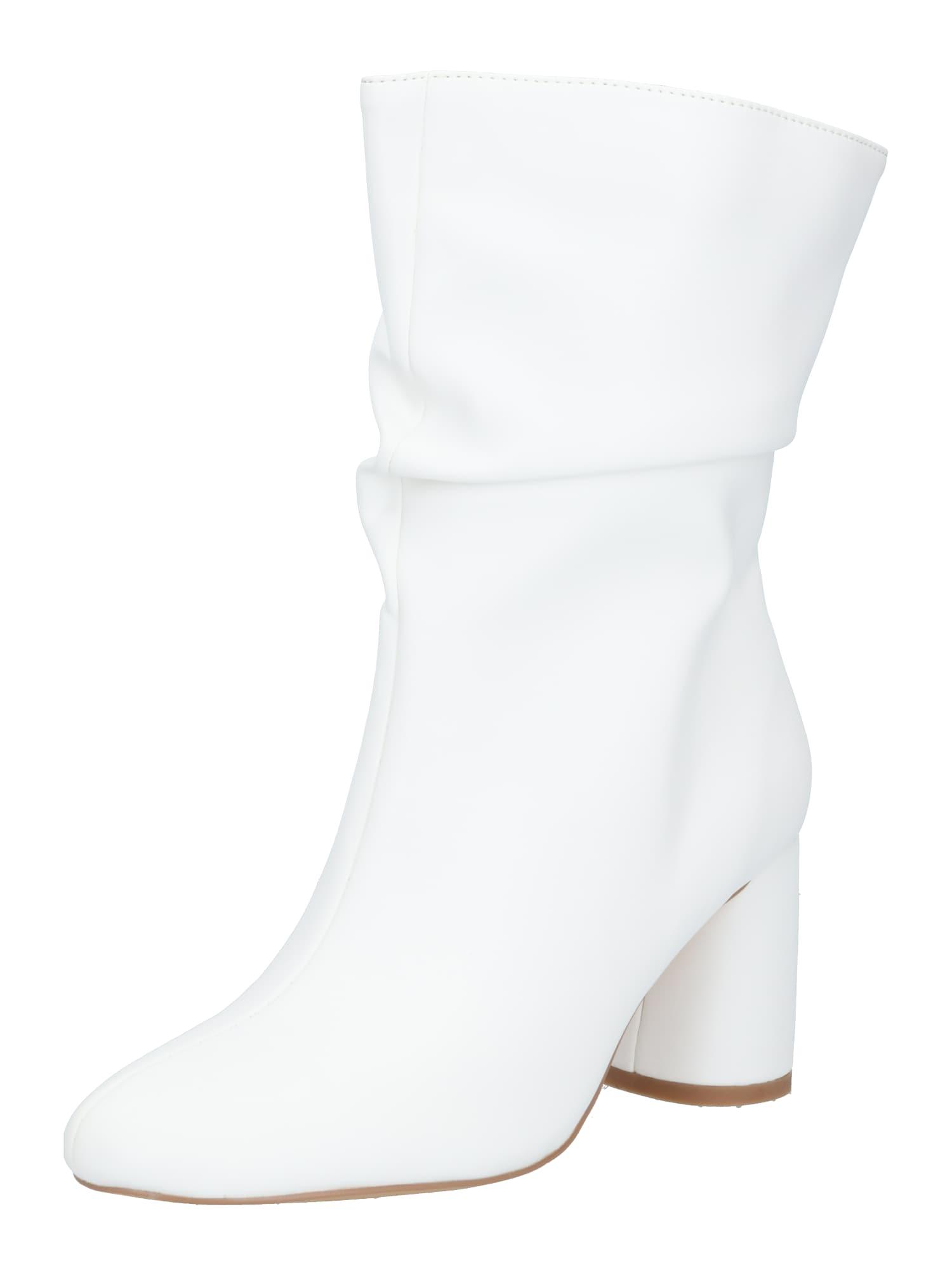 Public Desire Auliniai batai su kulniuku balta