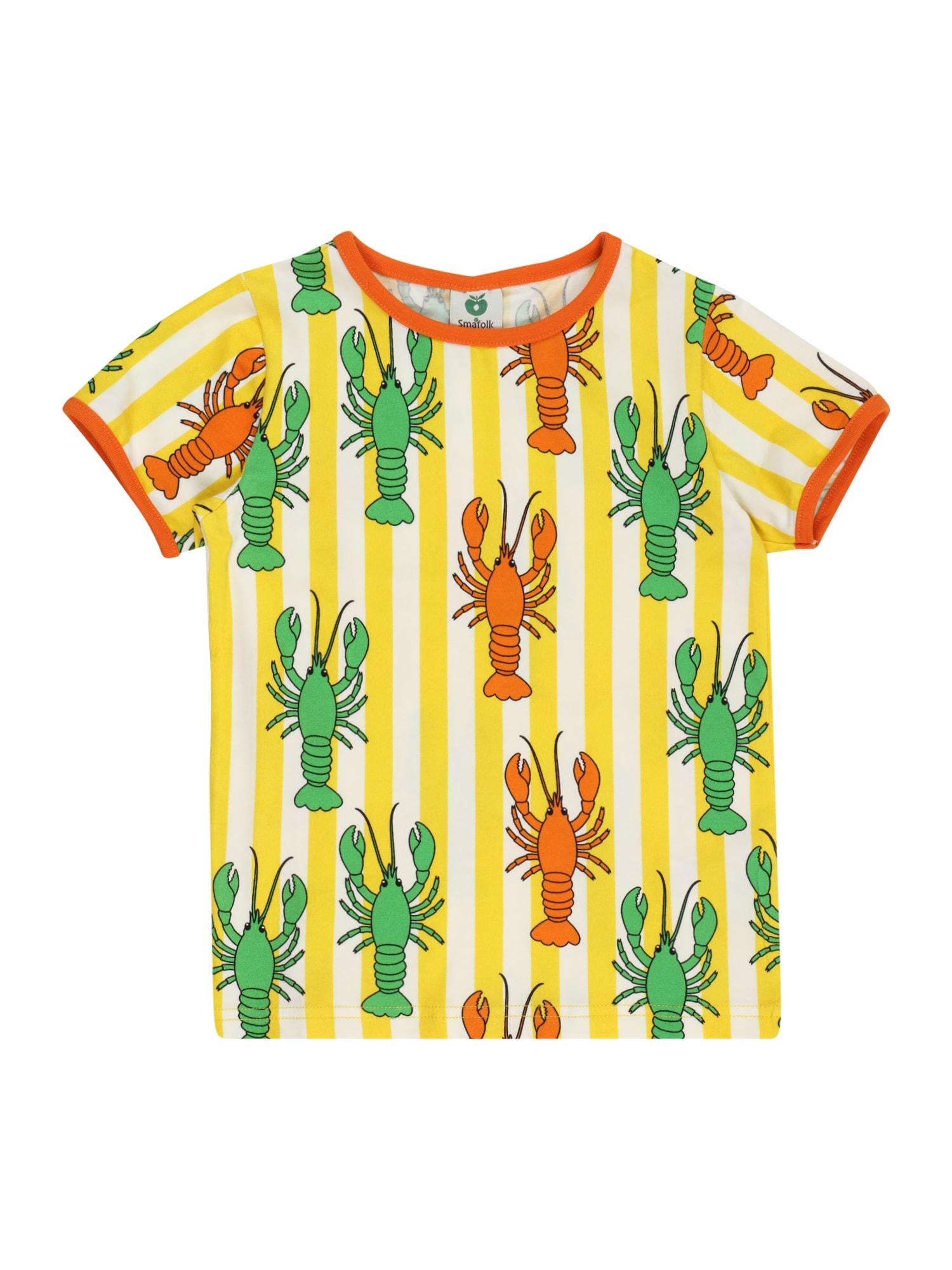 Småfolk Marškinėliai geltona / oranžinė / žalia / balta