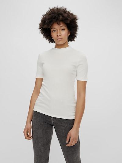 Pieces Birdie T-Shirt mit kurzen Ärmeln und hohem Kragen