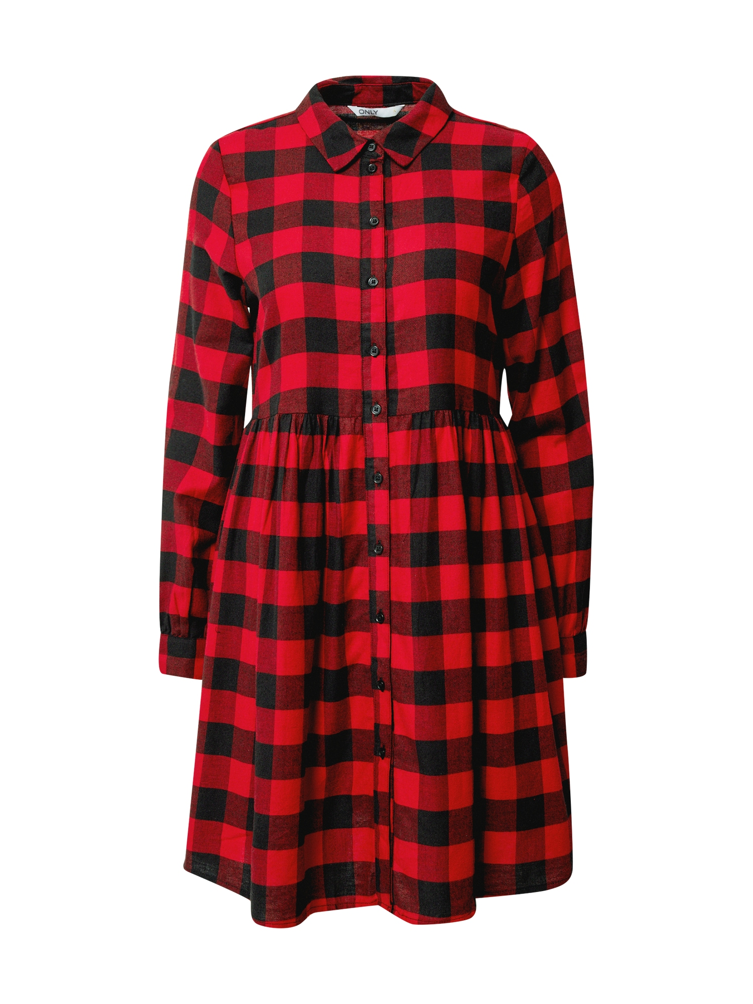 ONLY Košilové šaty  červená / černá