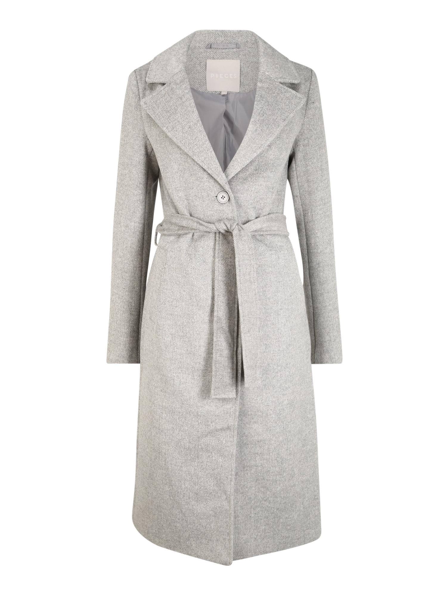 Pieces (Tall) Demisezoninis paltas šviesiai pilka