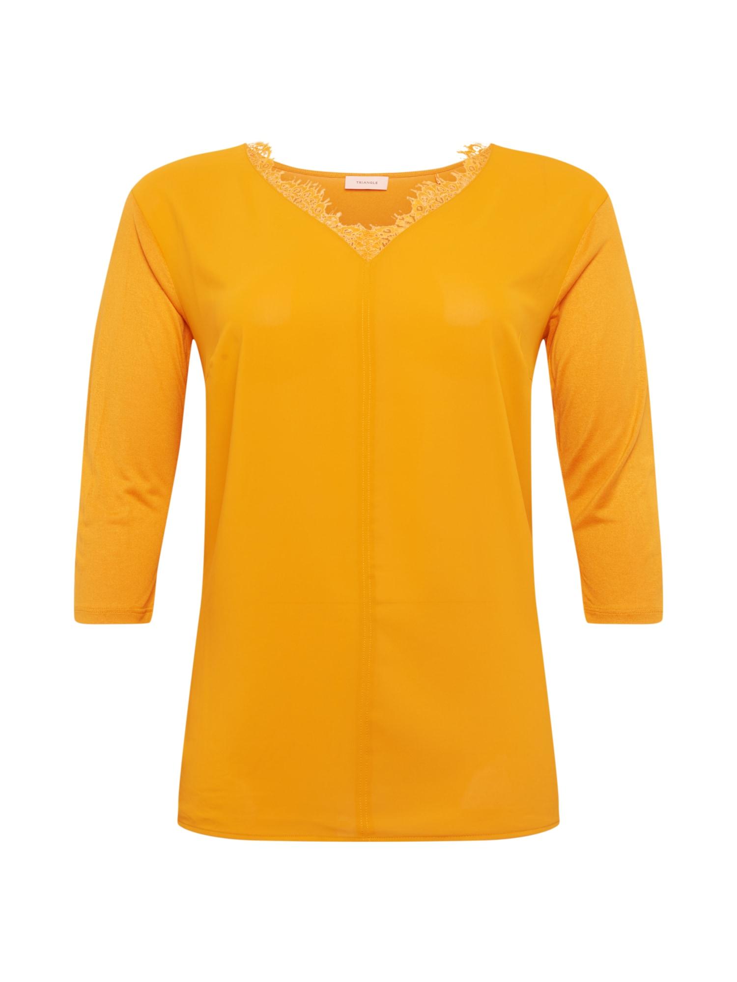 TRIANGLE Marškinėliai medaus spalva