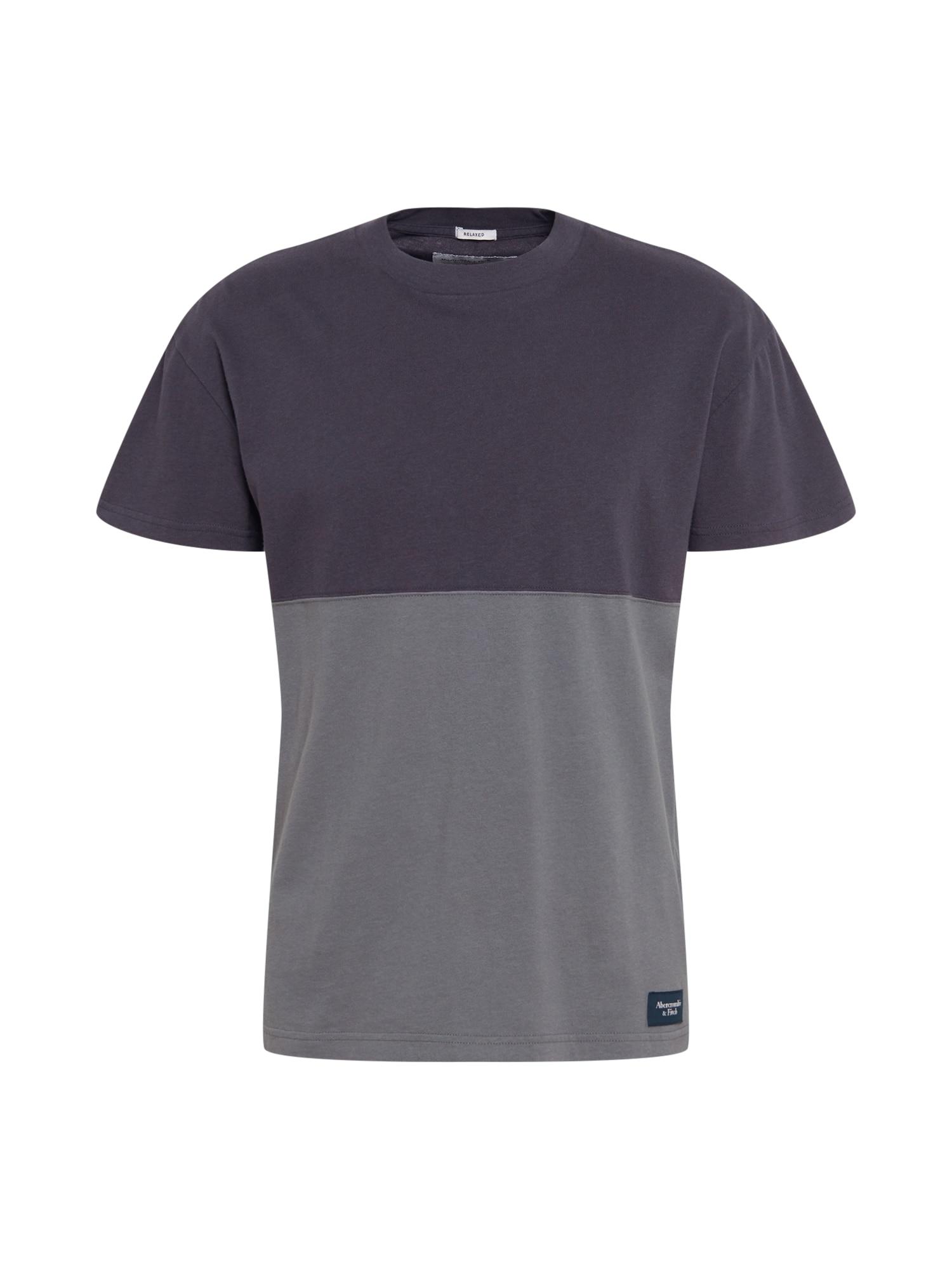 Abercrombie & Fitch Marškinėliai bazalto pilka / tamsiai pilka
