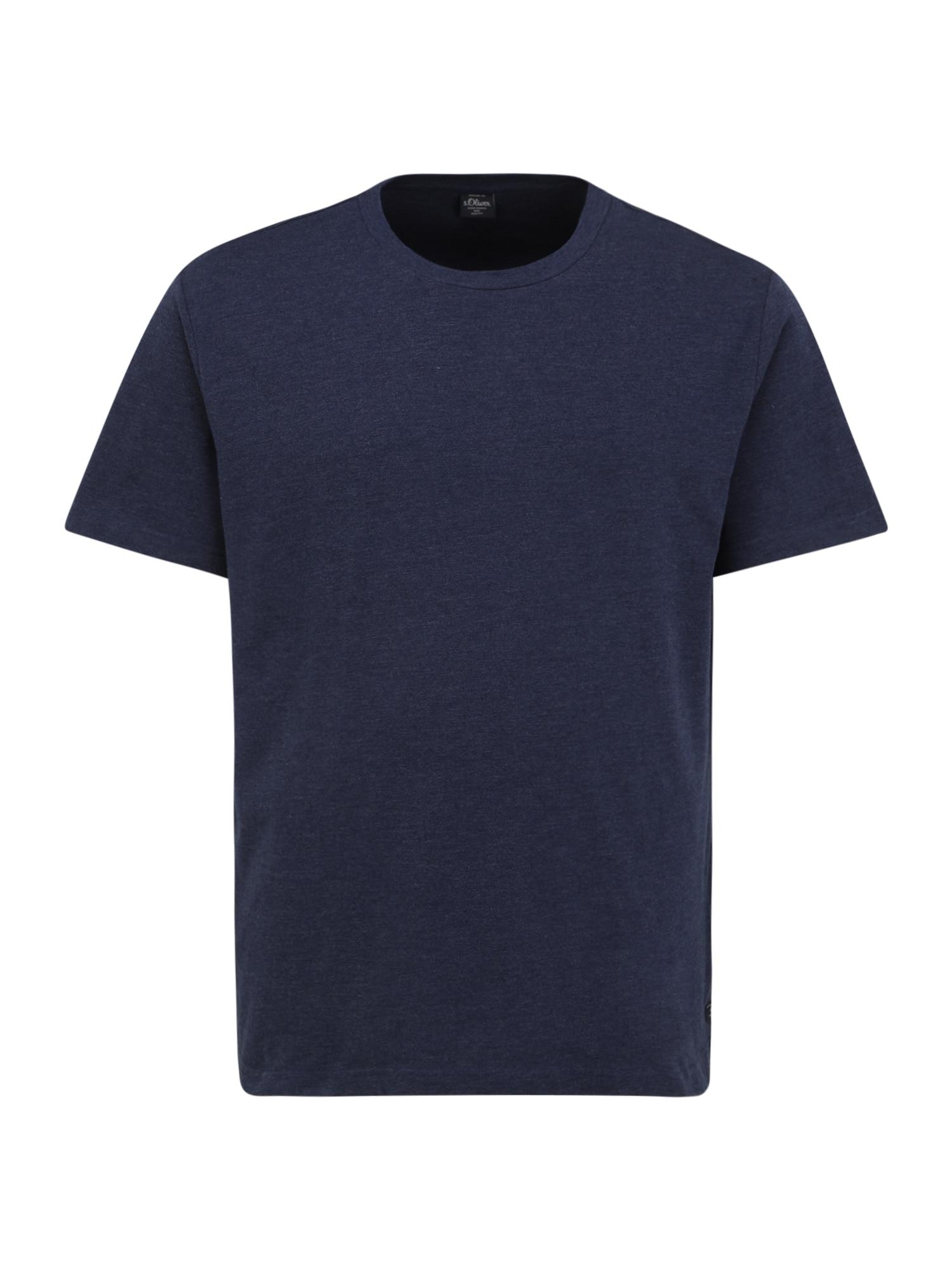 s.Oliver BLACK LABEL Marškinėliai mėlyna
