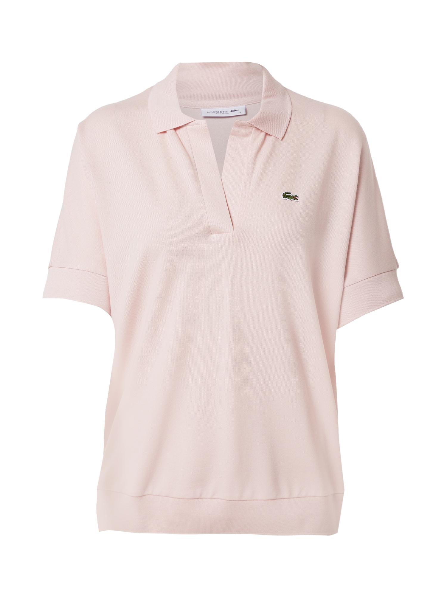 LACOSTE Marškinėliai pudros spalva
