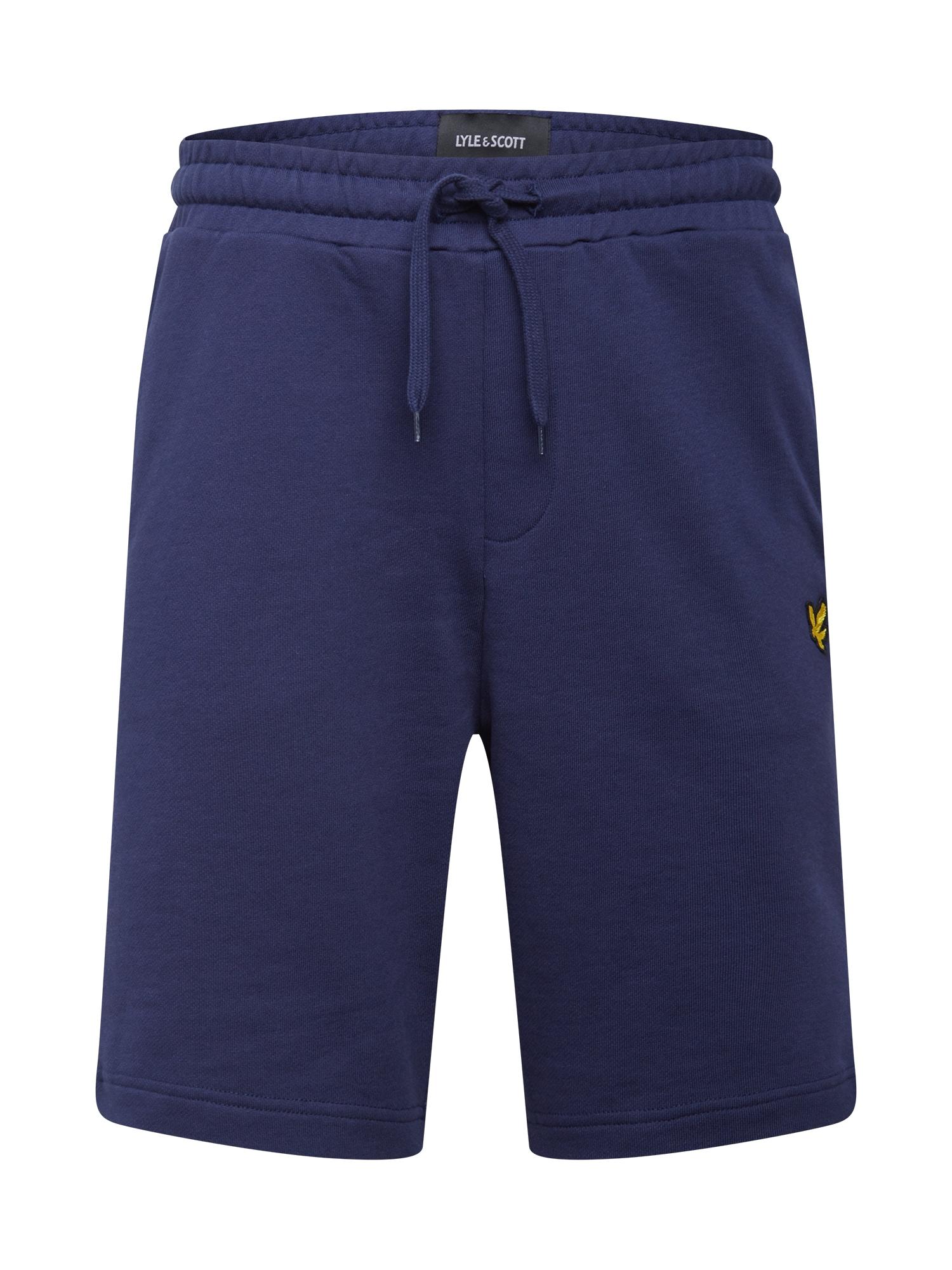 Lyle & Scott Kelnės geltona / juoda / tamsiai mėlyna