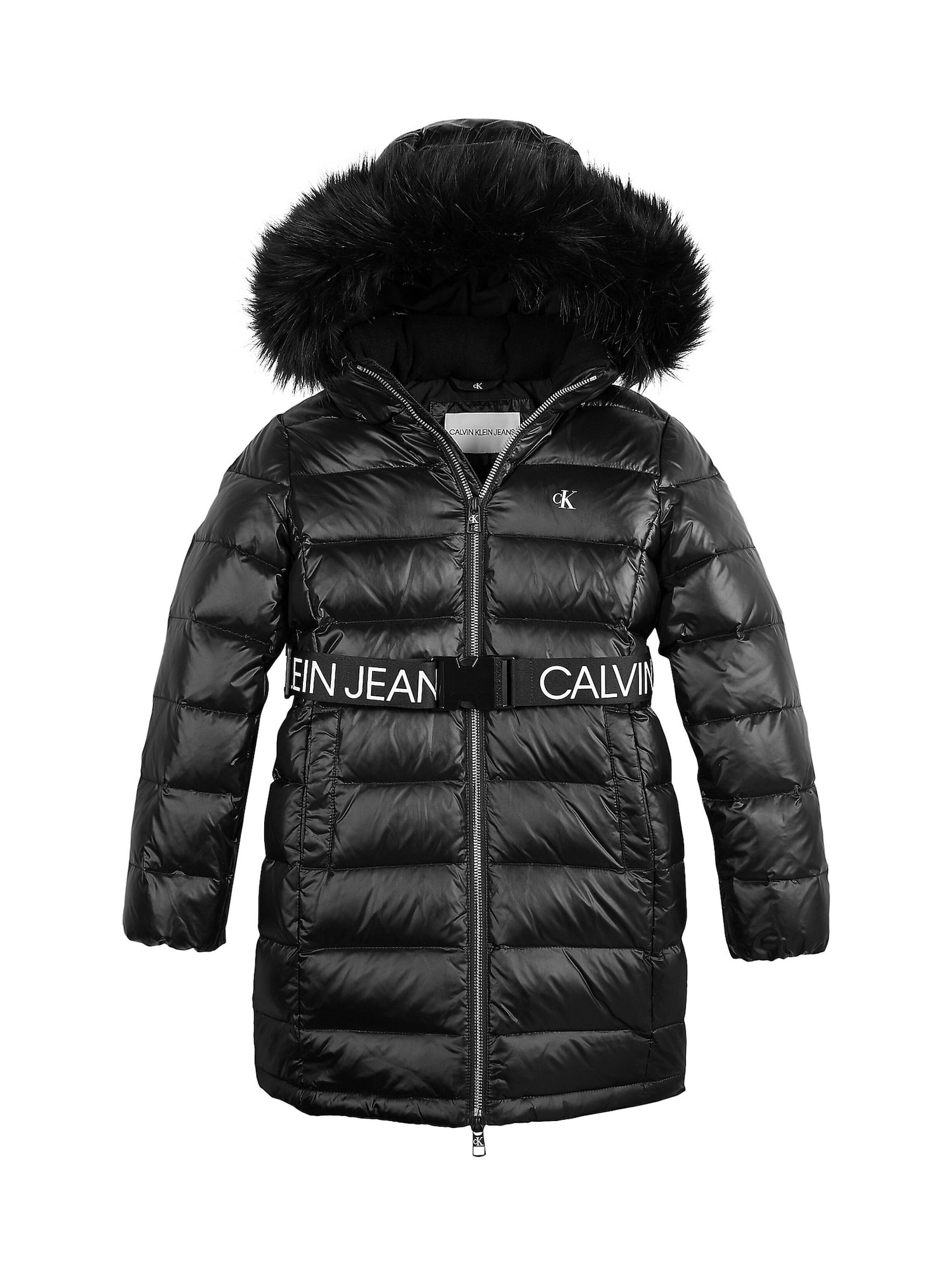 Calvin Klein Jeans Paltas juoda / balta