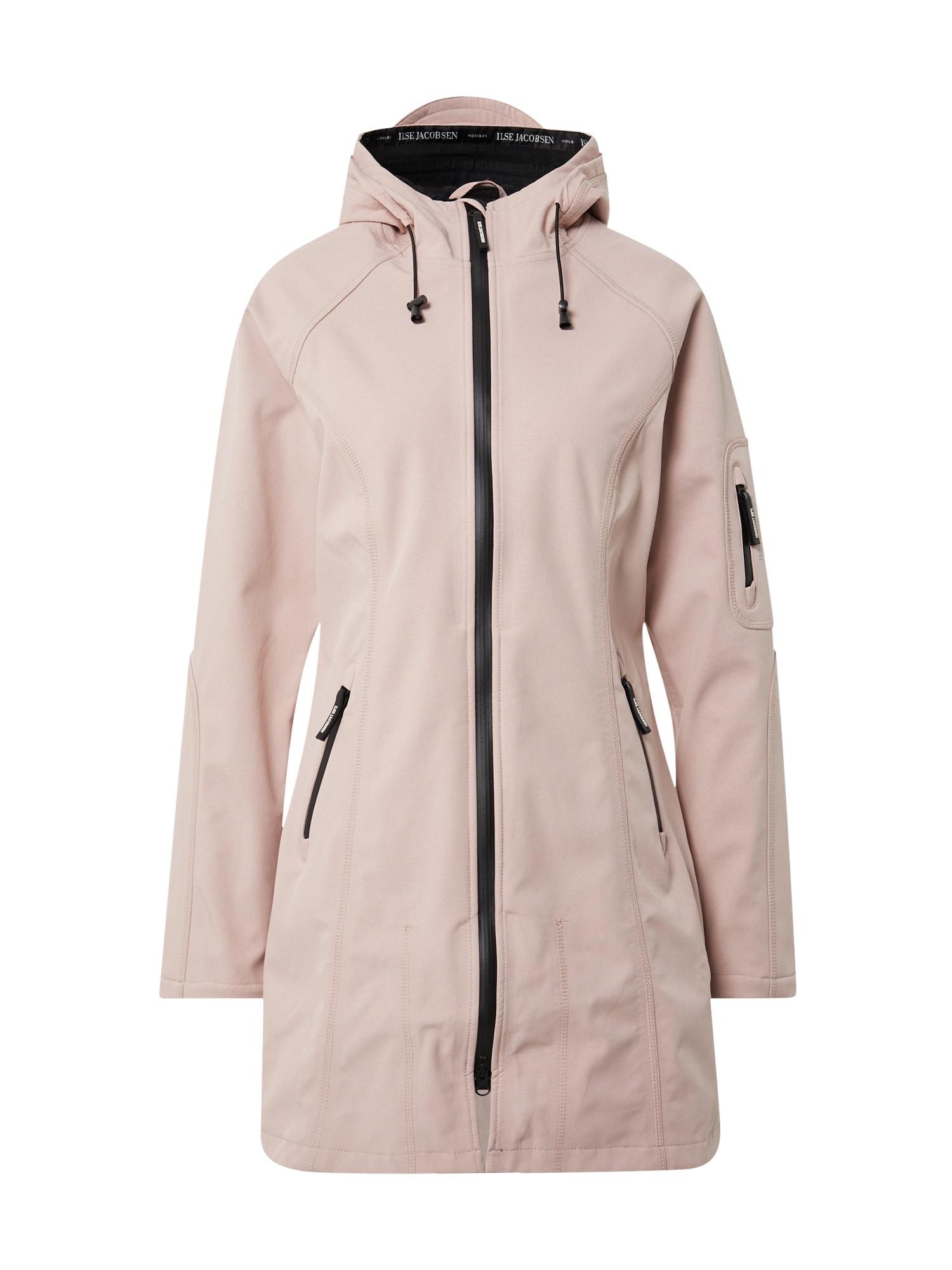 ILSE JACOBSEN Demisezoninis paltas ryškiai rožinė spalva