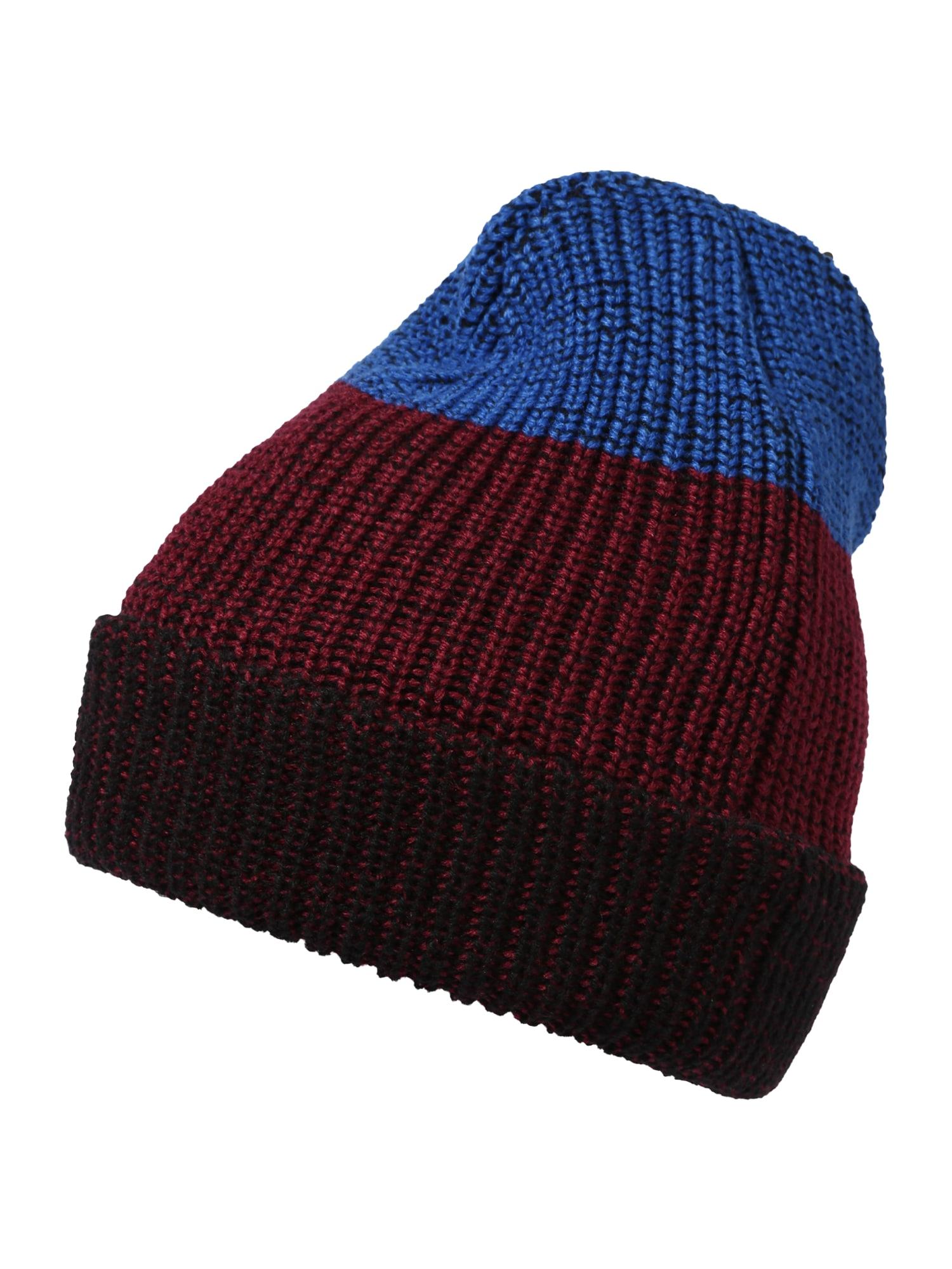 "BRUNO BANANI Megzta kepurė tamsiai mėlyna / sodri mėlyna (""karališka"") / vyšninė spalva"