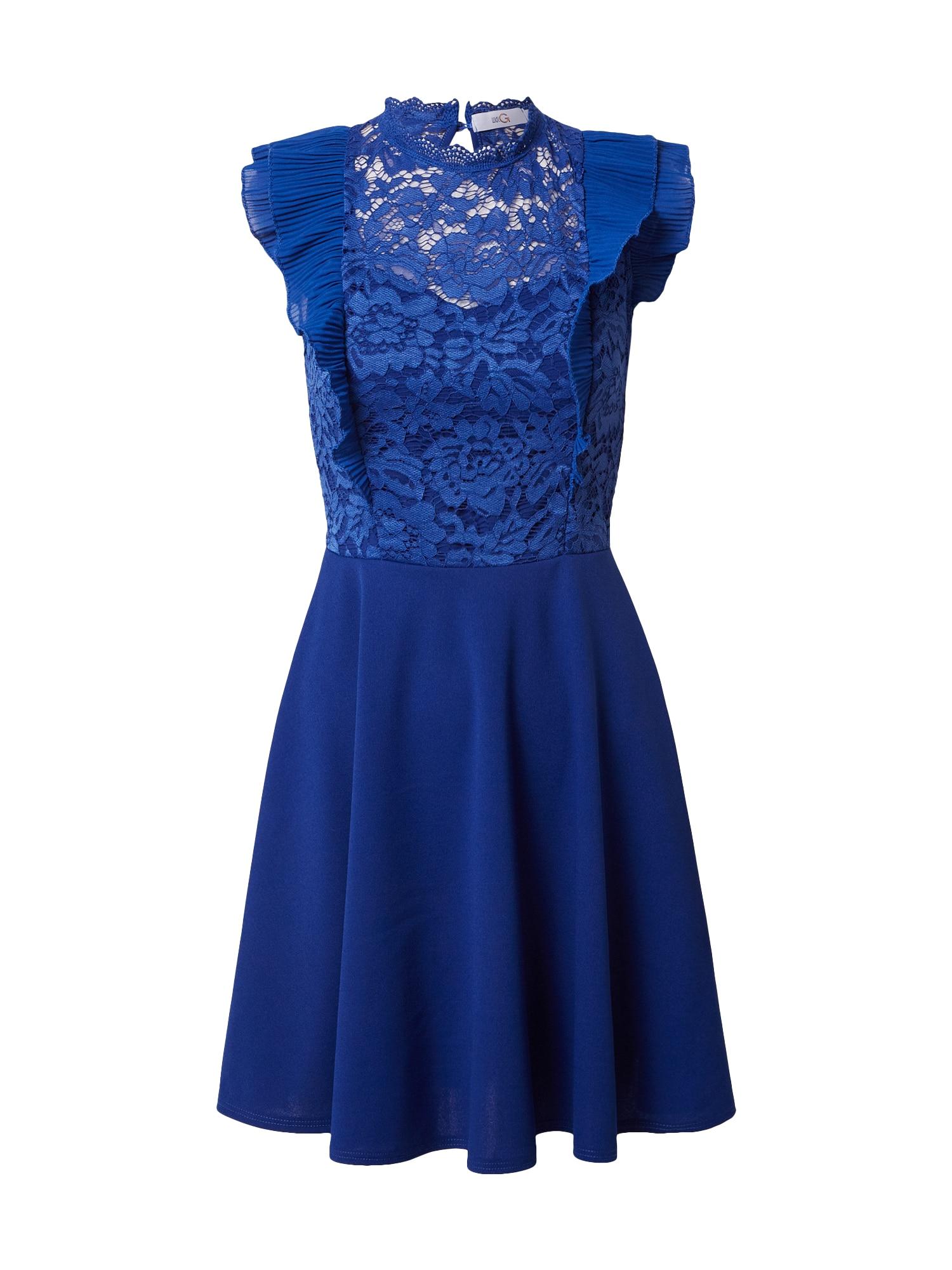WAL G. Kokteilinė suknelė indigo spalva