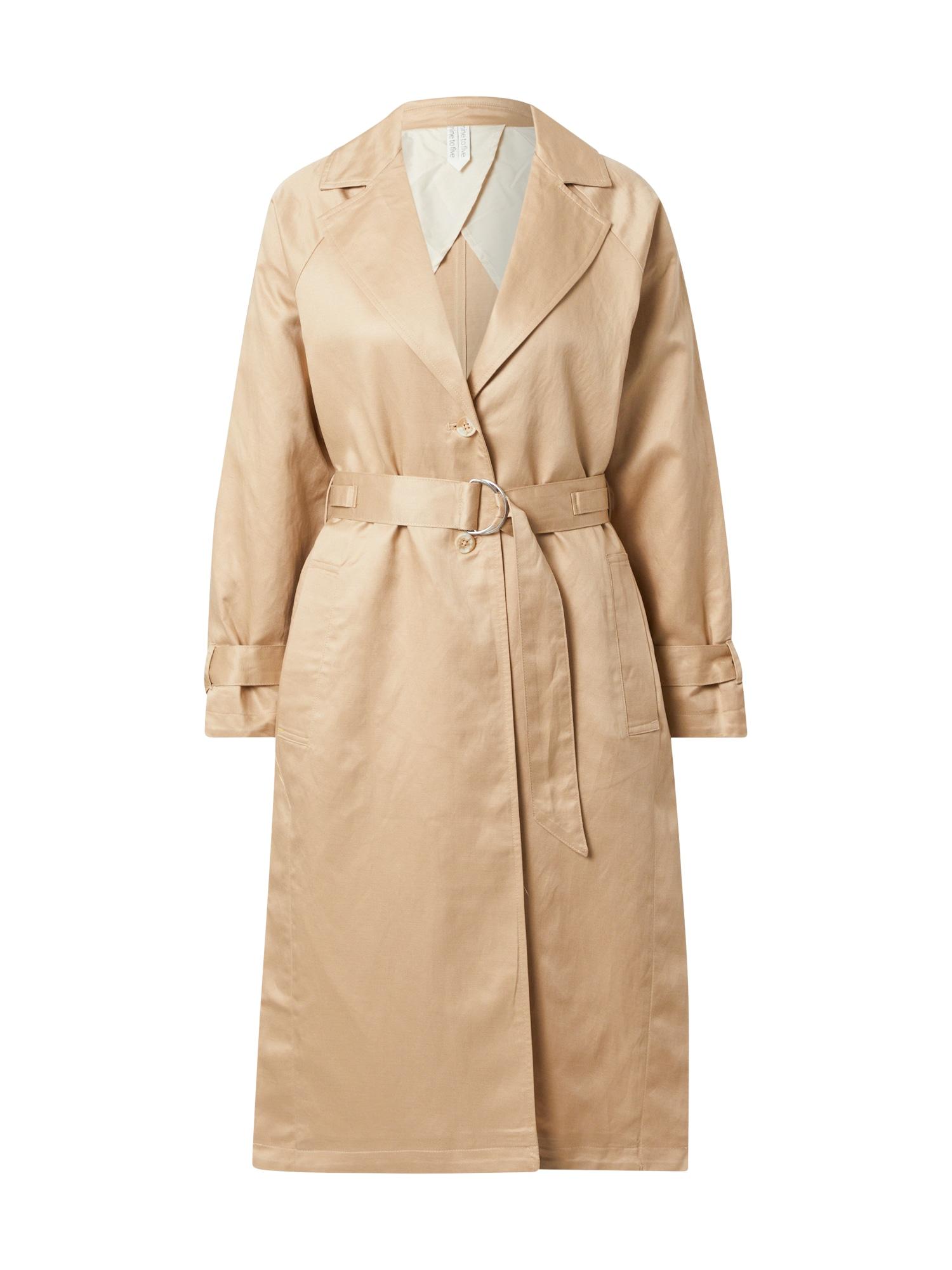 MINE TO FIVE Demisezoninis paltas smėlio spalva