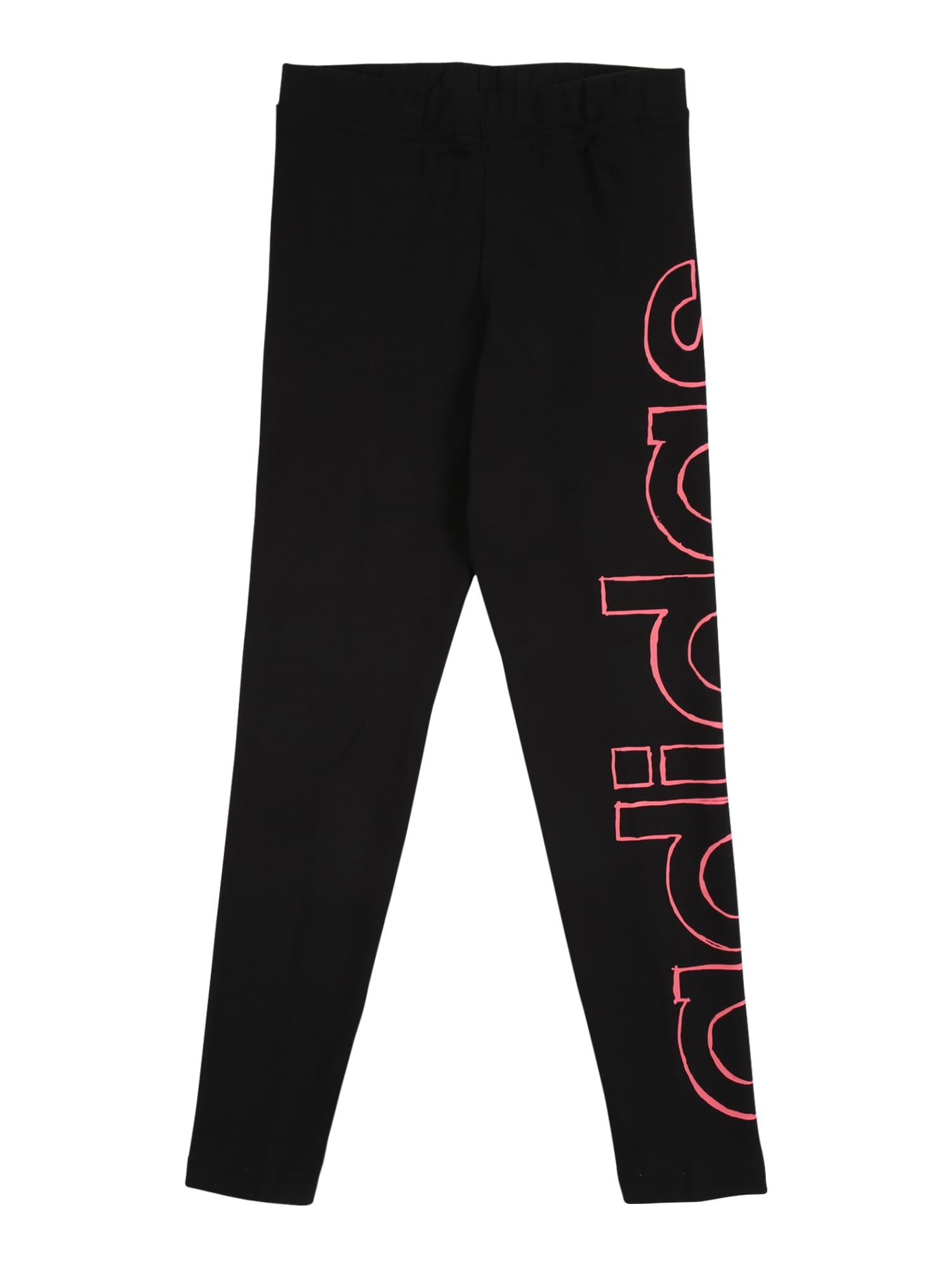 ADIDAS PERFORMANCE Legíny  pink / černá