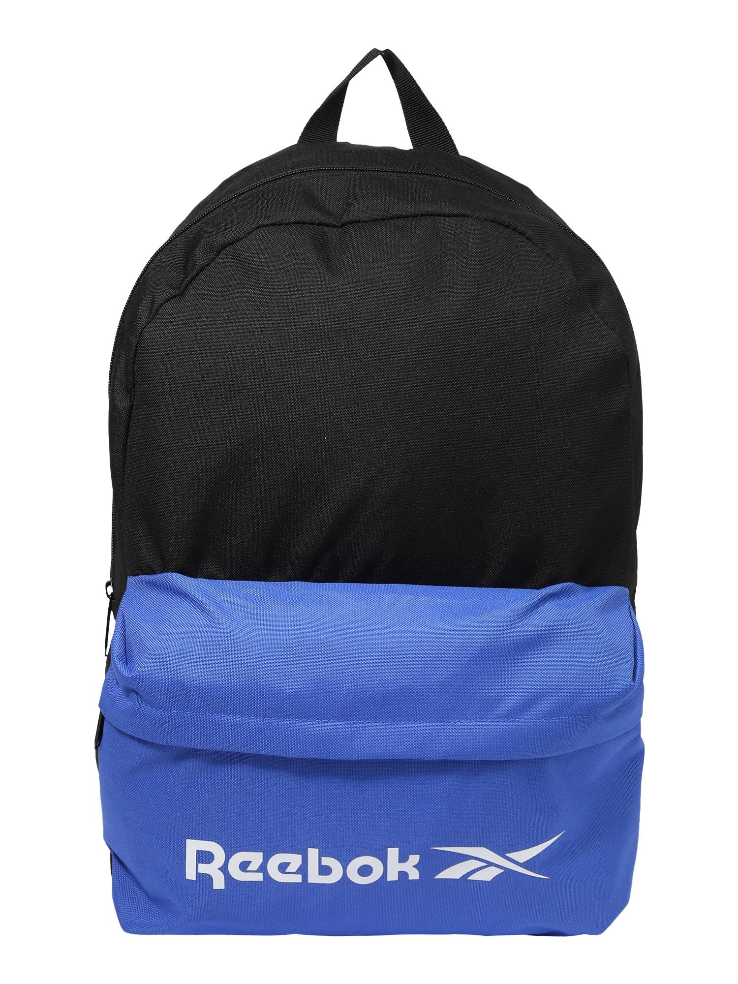 REEBOK Sportinė kuprinė juoda / mėlyna