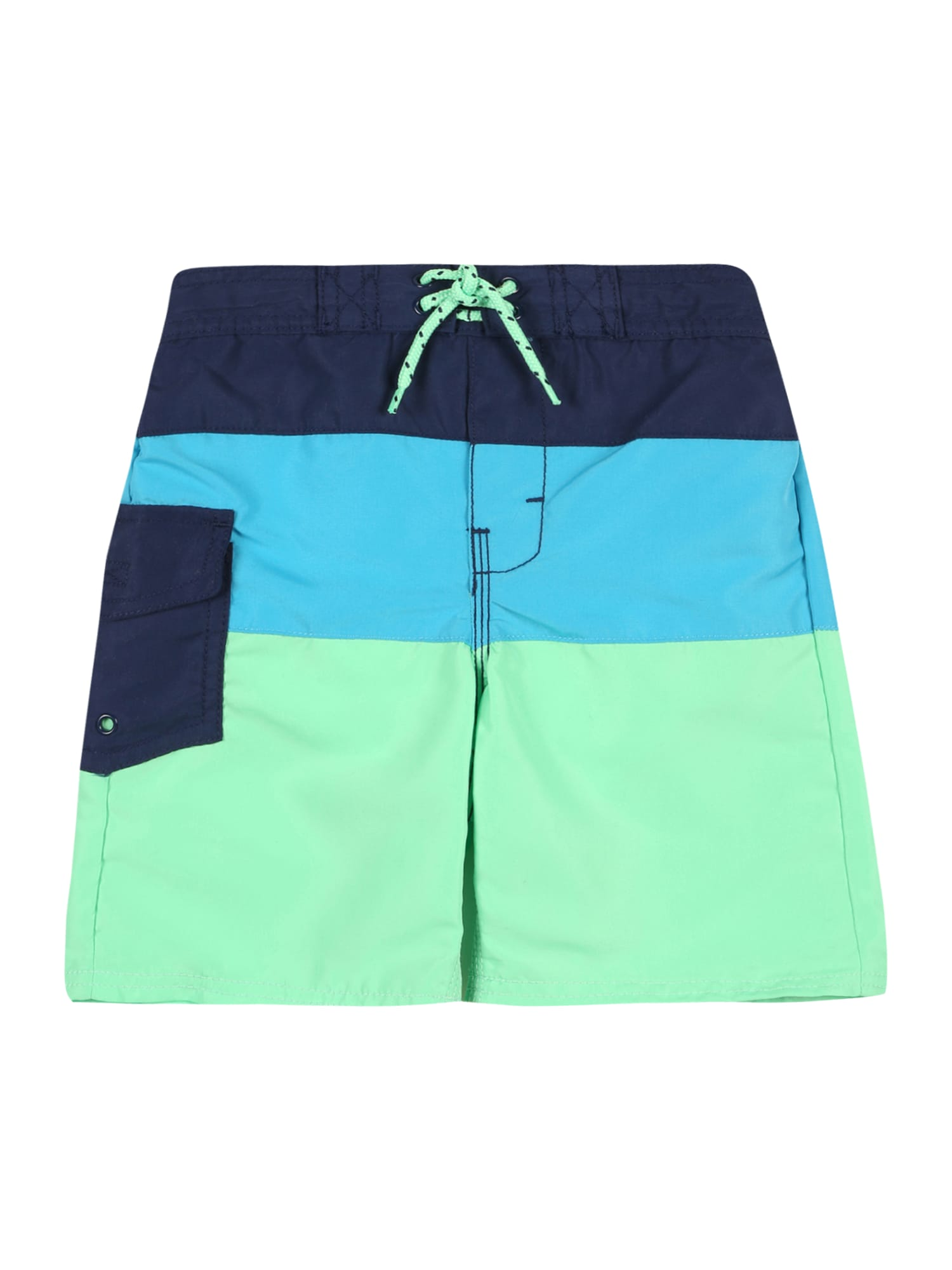 OshKosh Maudymosi trumpikės mėlyna / šviesiai mėlyna / šviesiai žalia