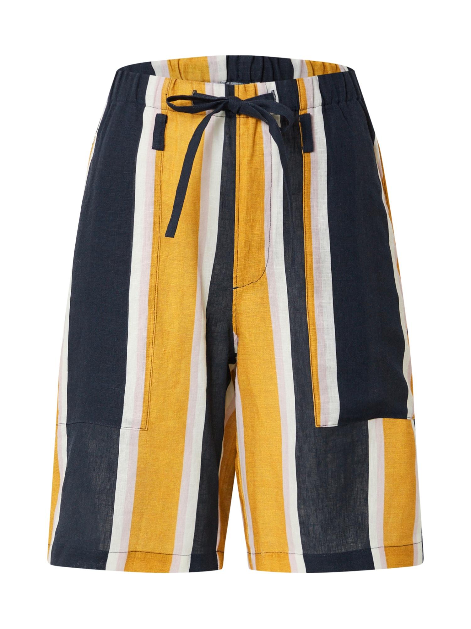 JNBY Kelnės tamsiai mėlyna / balta / aukso geltonumo spalva