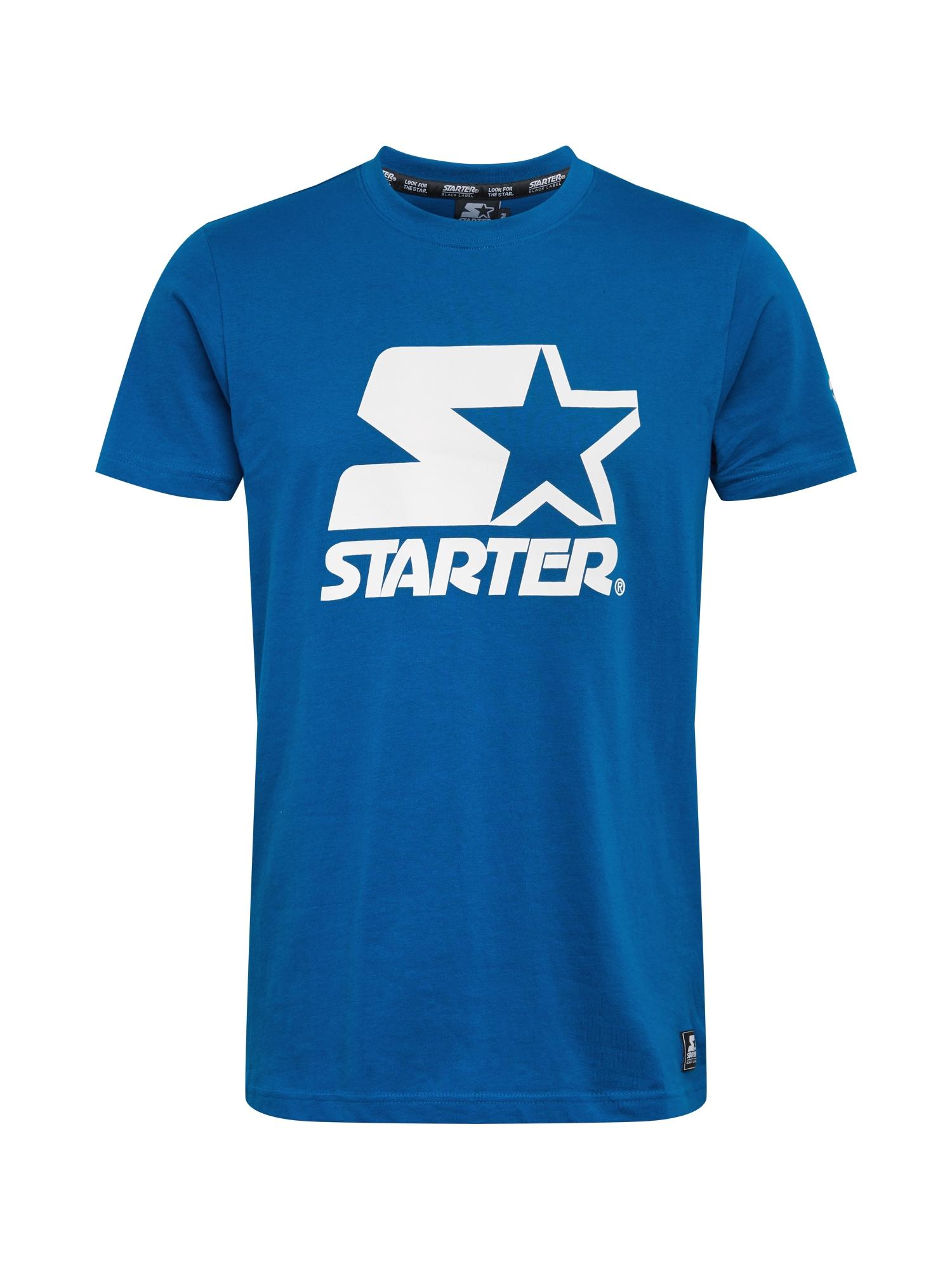 Starter Black Label Marškinėliai dangaus žydra / balta