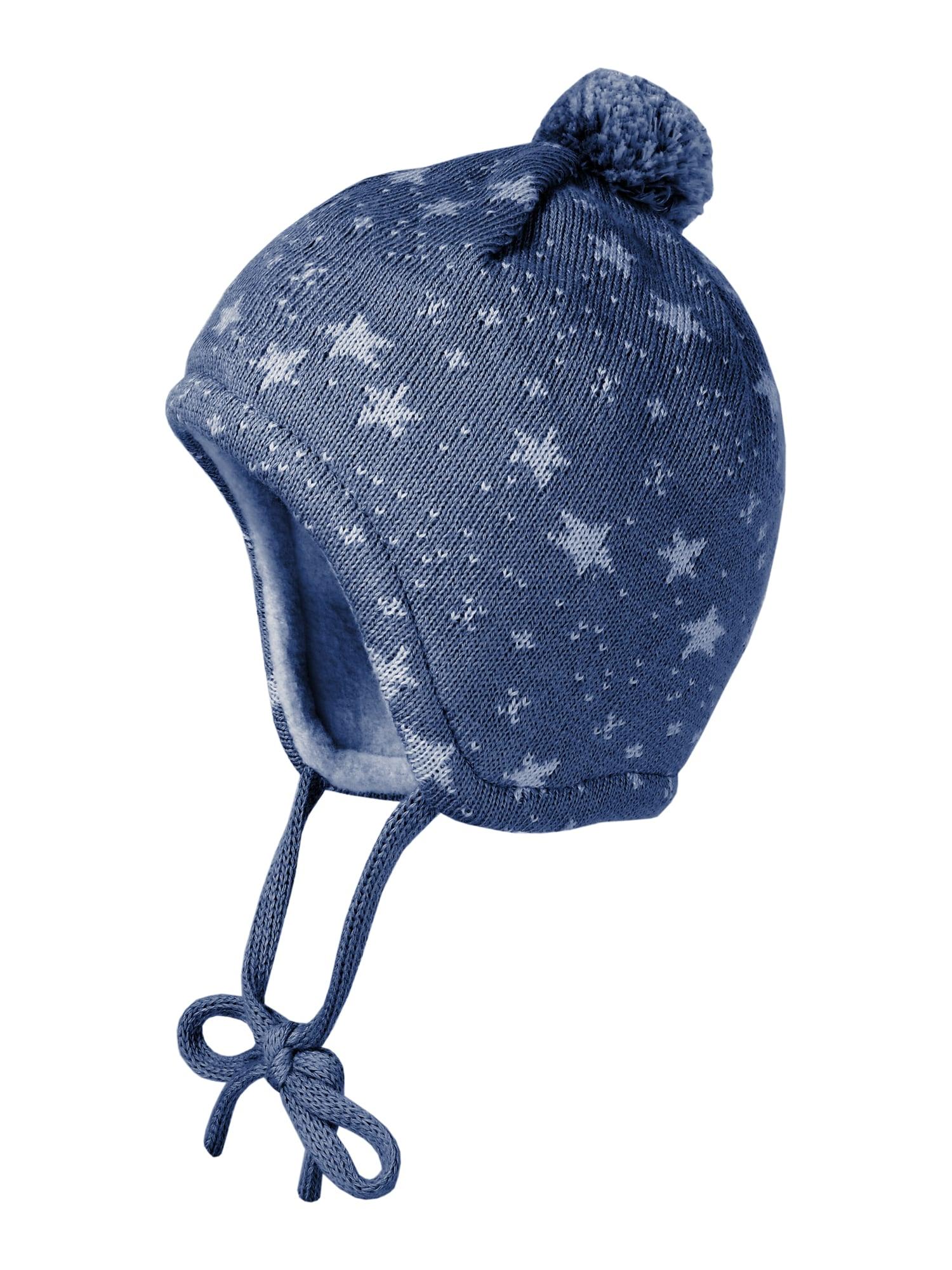MAXIMO Megzta kepurė tamsiai (džinso) mėlyna