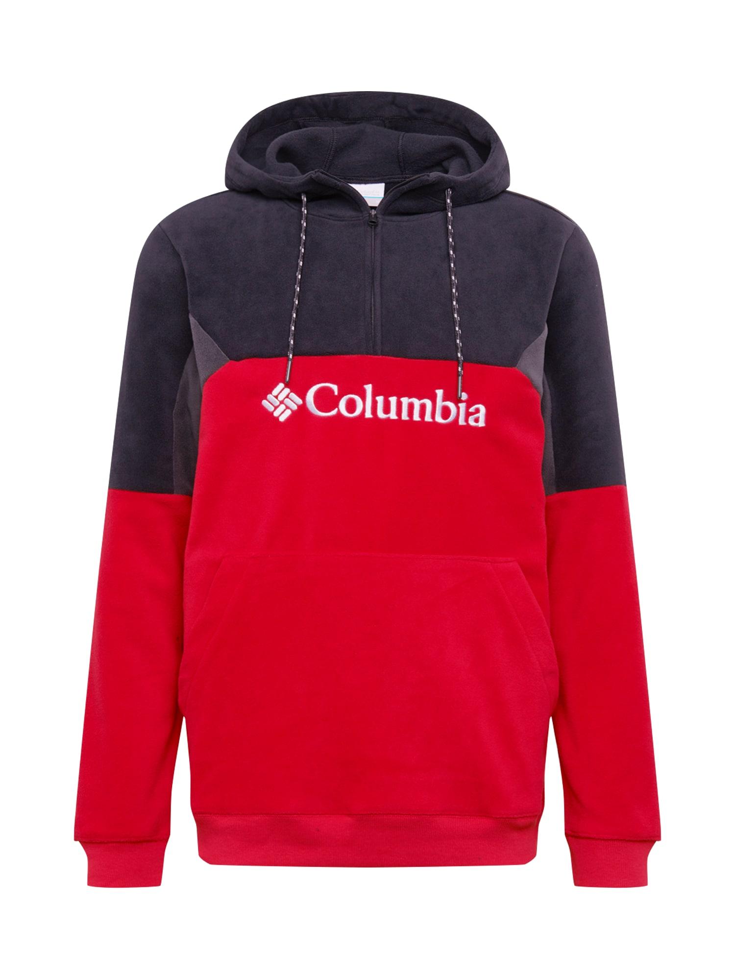 COLUMBIA Športový sveter 'Lodge II'  čierna / červená