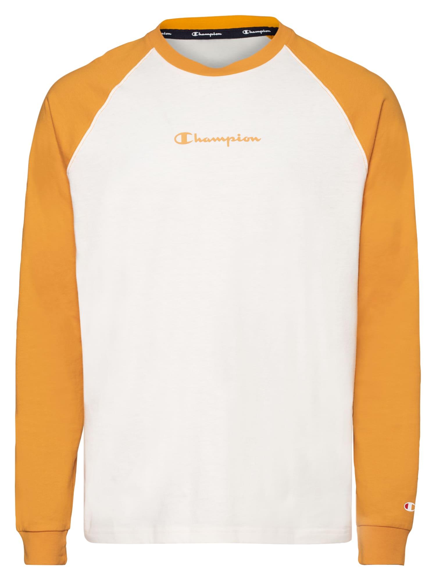 Champion Authentic Athletic Apparel Marškinėliai balkšva / garstyčių spalva