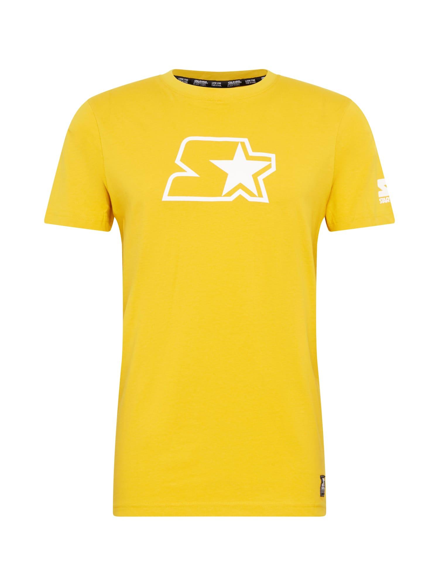 Starter Black Label Marškinėliai balta / geltona