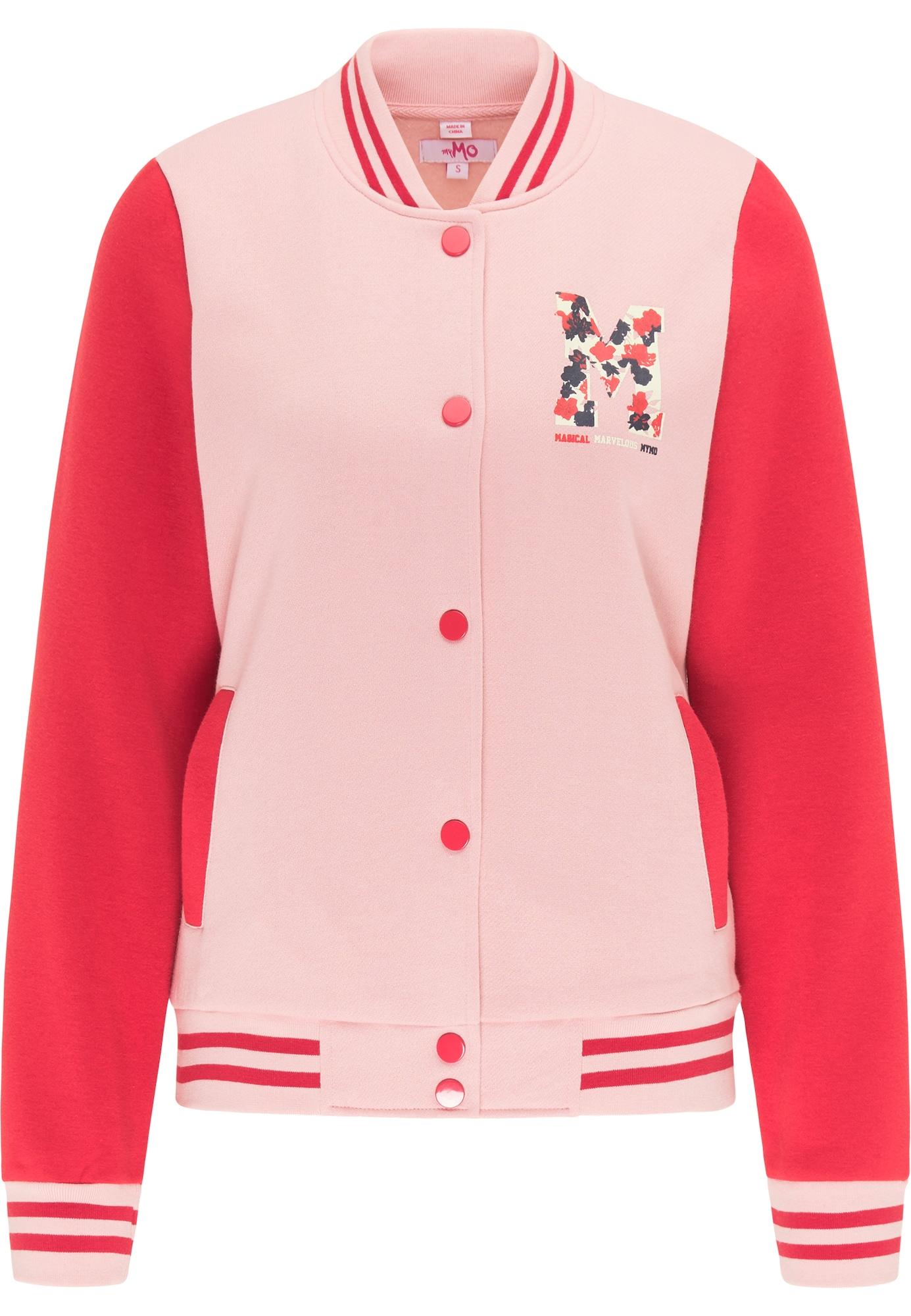 MYMO Džemperis raudona / rožinė / juoda