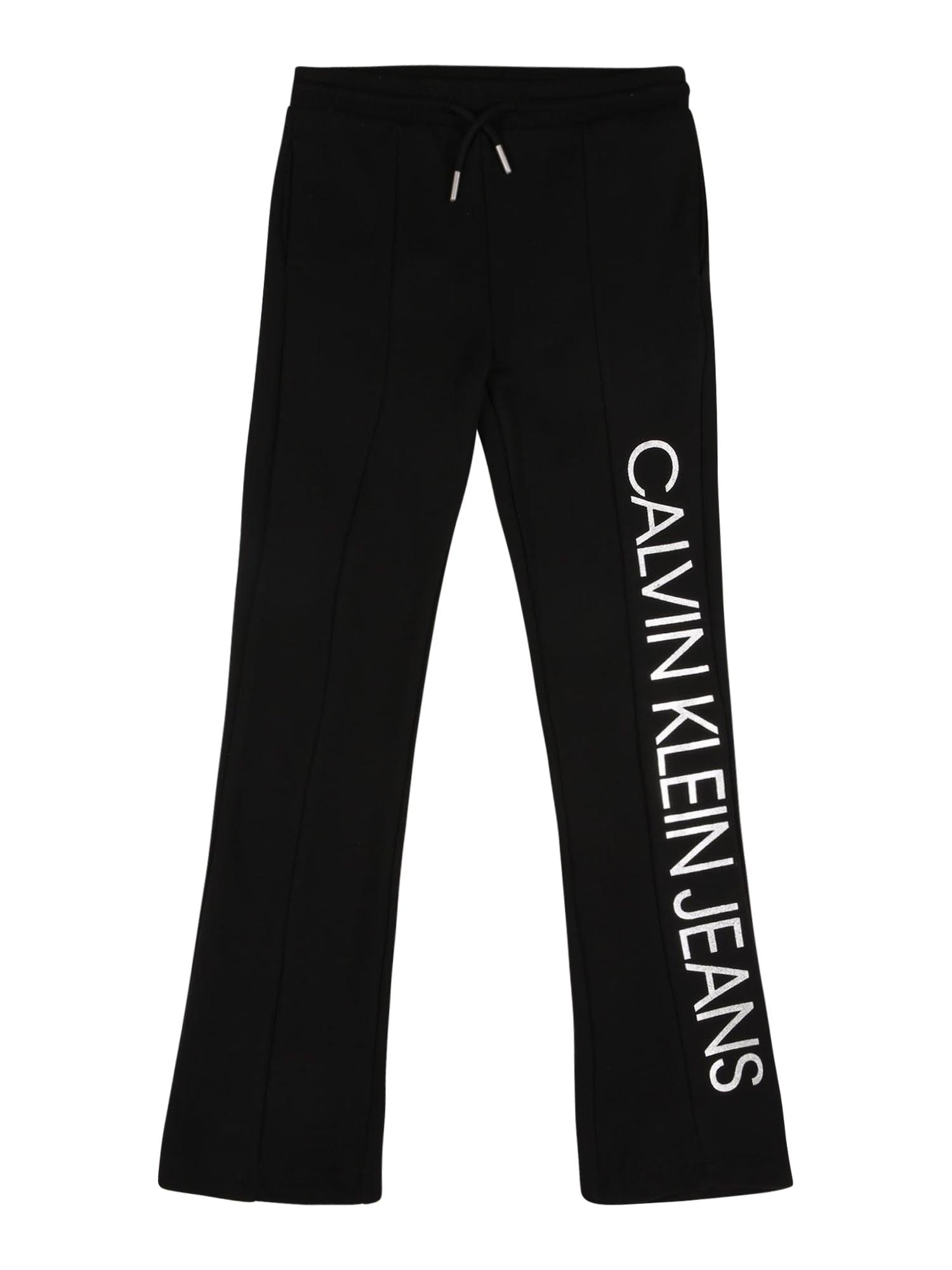 Calvin Klein Jeans Kelnės juoda / balta