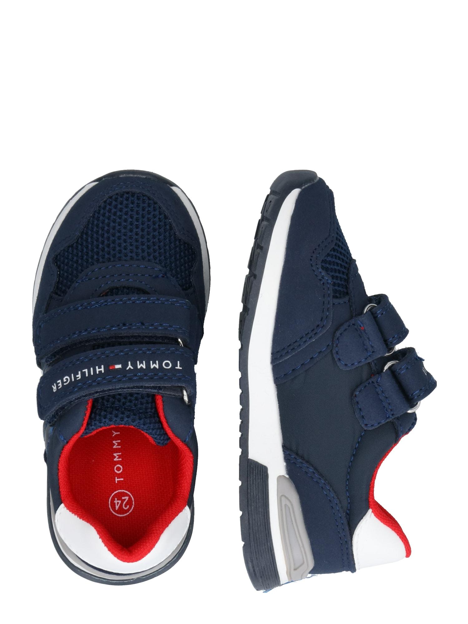 TOMMY HILFIGER Baskets  bleu marine / blanc / rouge