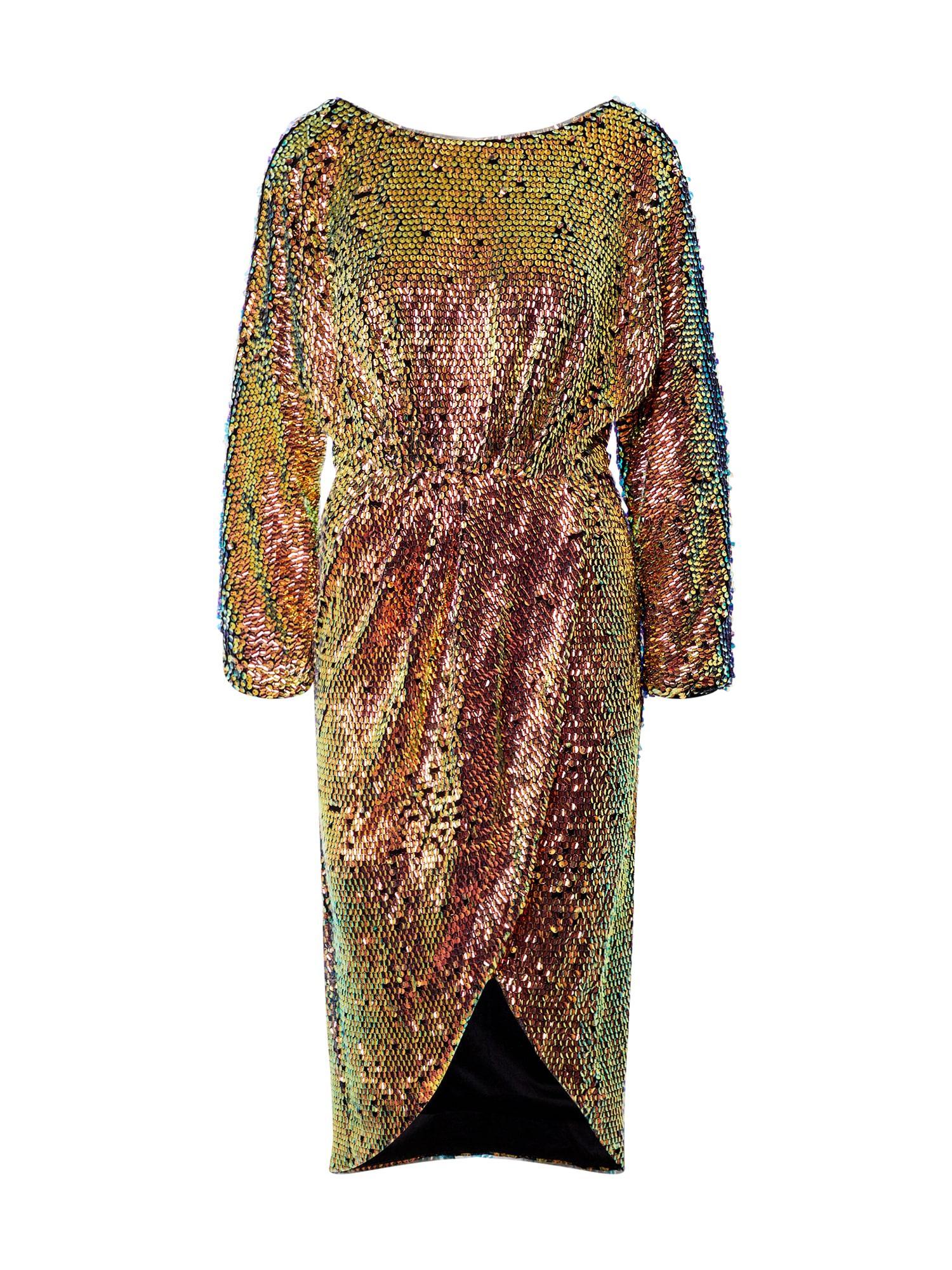 TFNC Kokteilinė suknelė mišrios spalvos / auksas