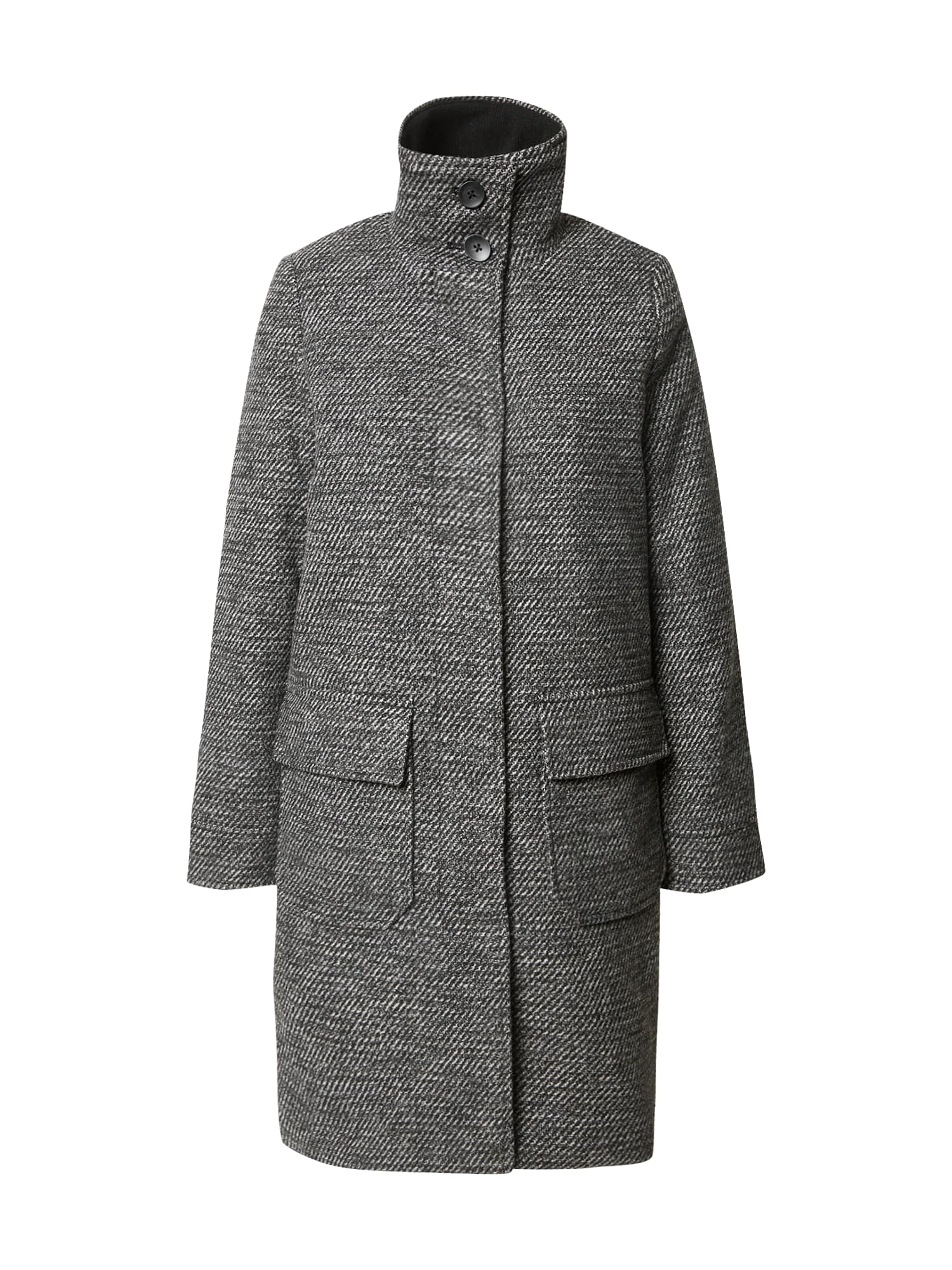 TOM TAILOR Demisezoninis paltas margai pilka