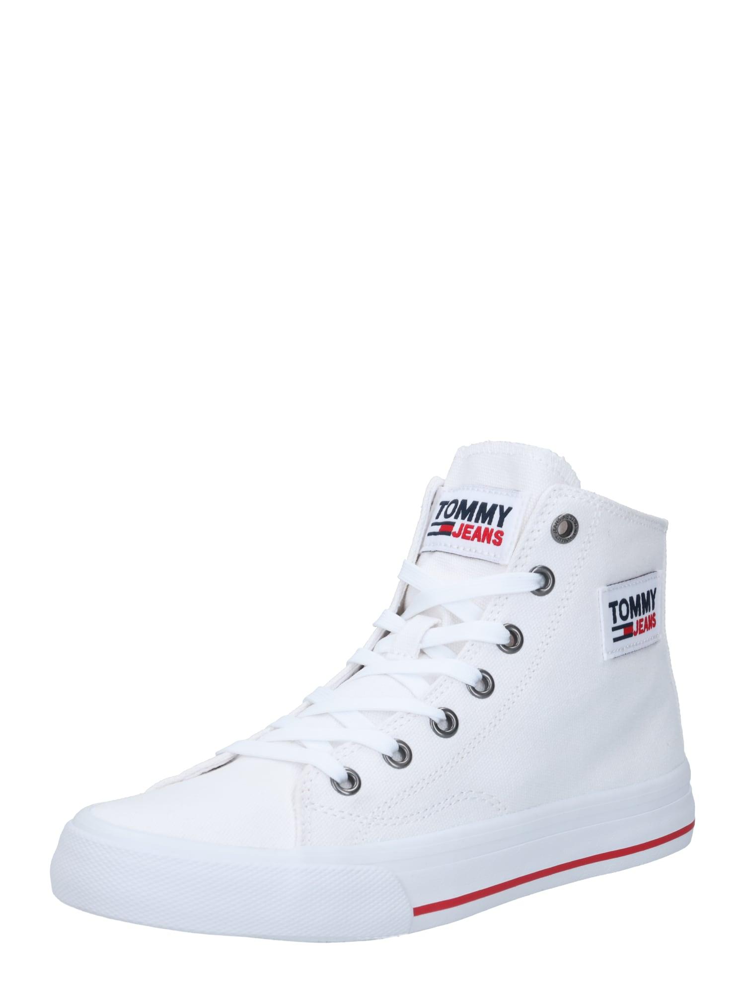 Tommy Jeans Sportbačiai su auliuku balta / raudona / tamsiai mėlyna