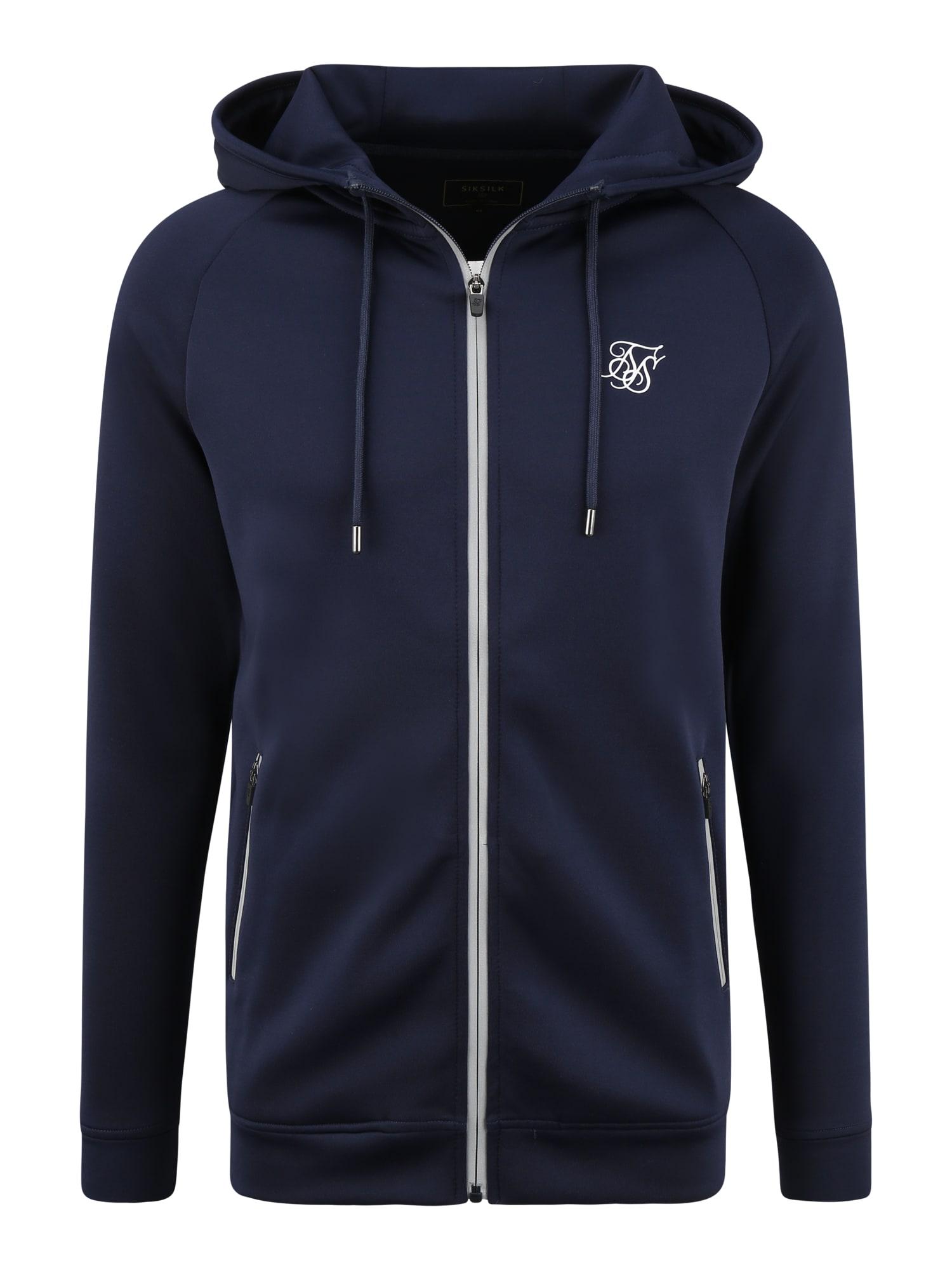 SikSilk Džemperis balta / nakties mėlyna