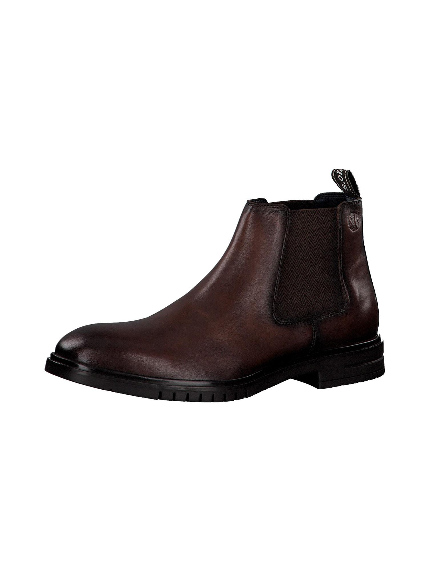 s.Oliver Chelsea boty  kaštanově hnědá